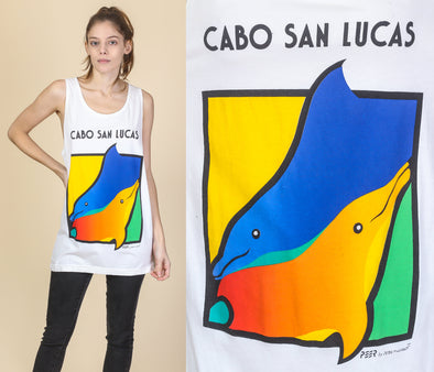 90s Mexico Dolphin Tank Top - Medium