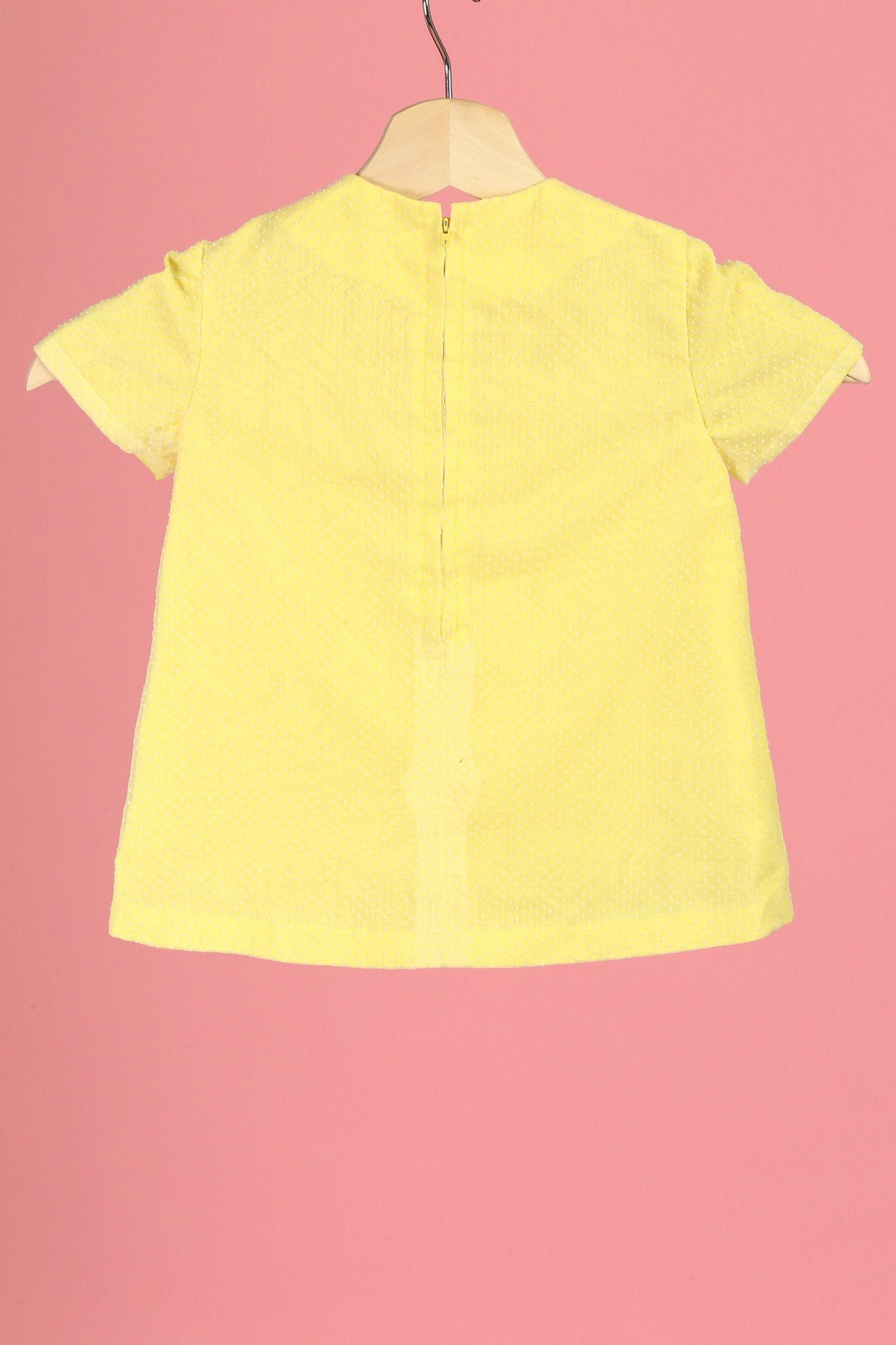 60s Swiss Dot Yellow Toddler Dress - 2T