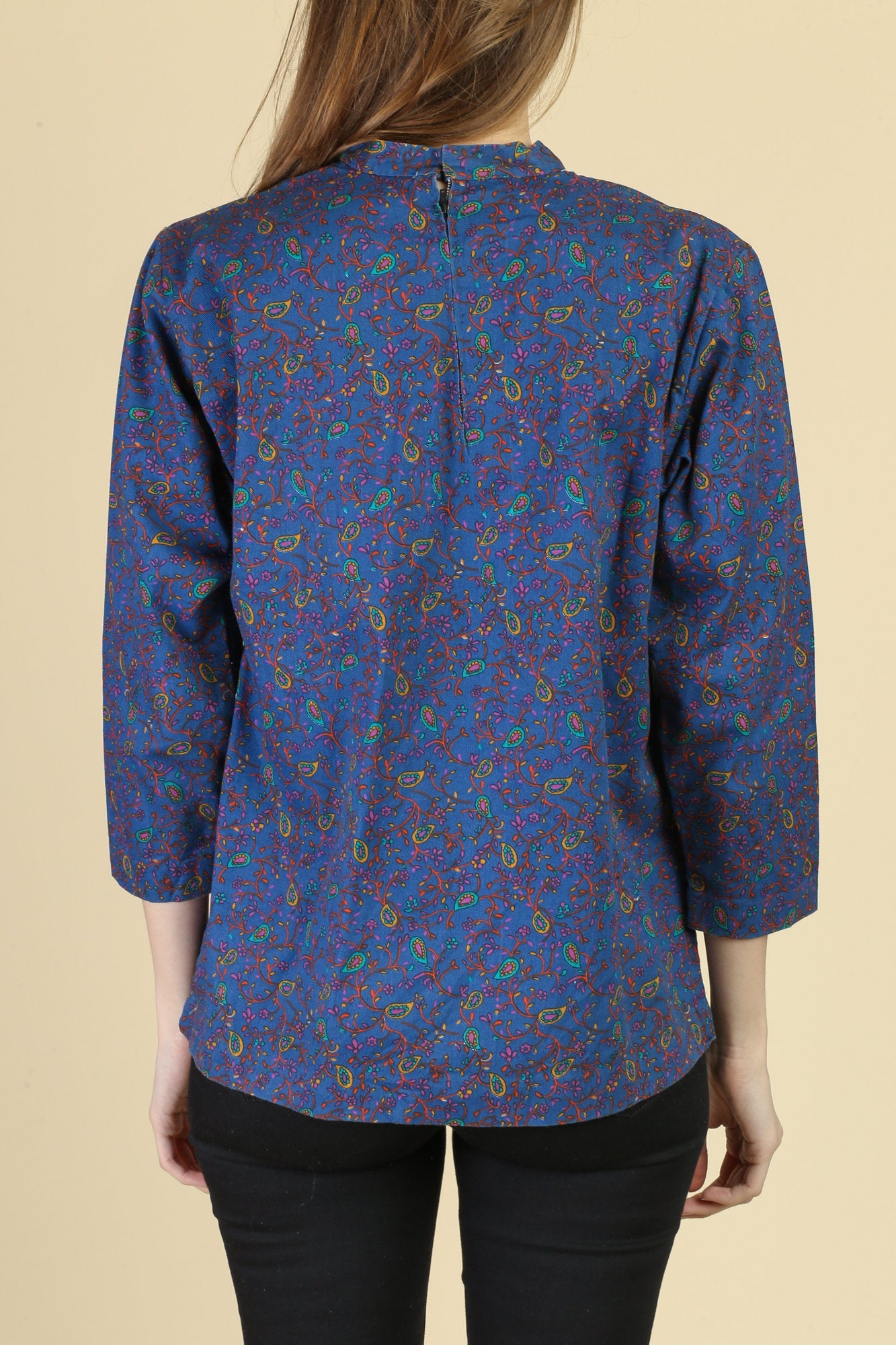 60s Paisley Tunic Top - Medium