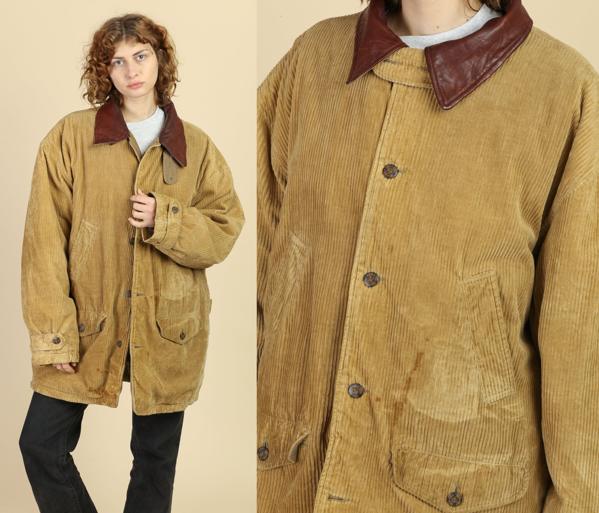 Vintage Corduroy Barn Coat - Men's XL