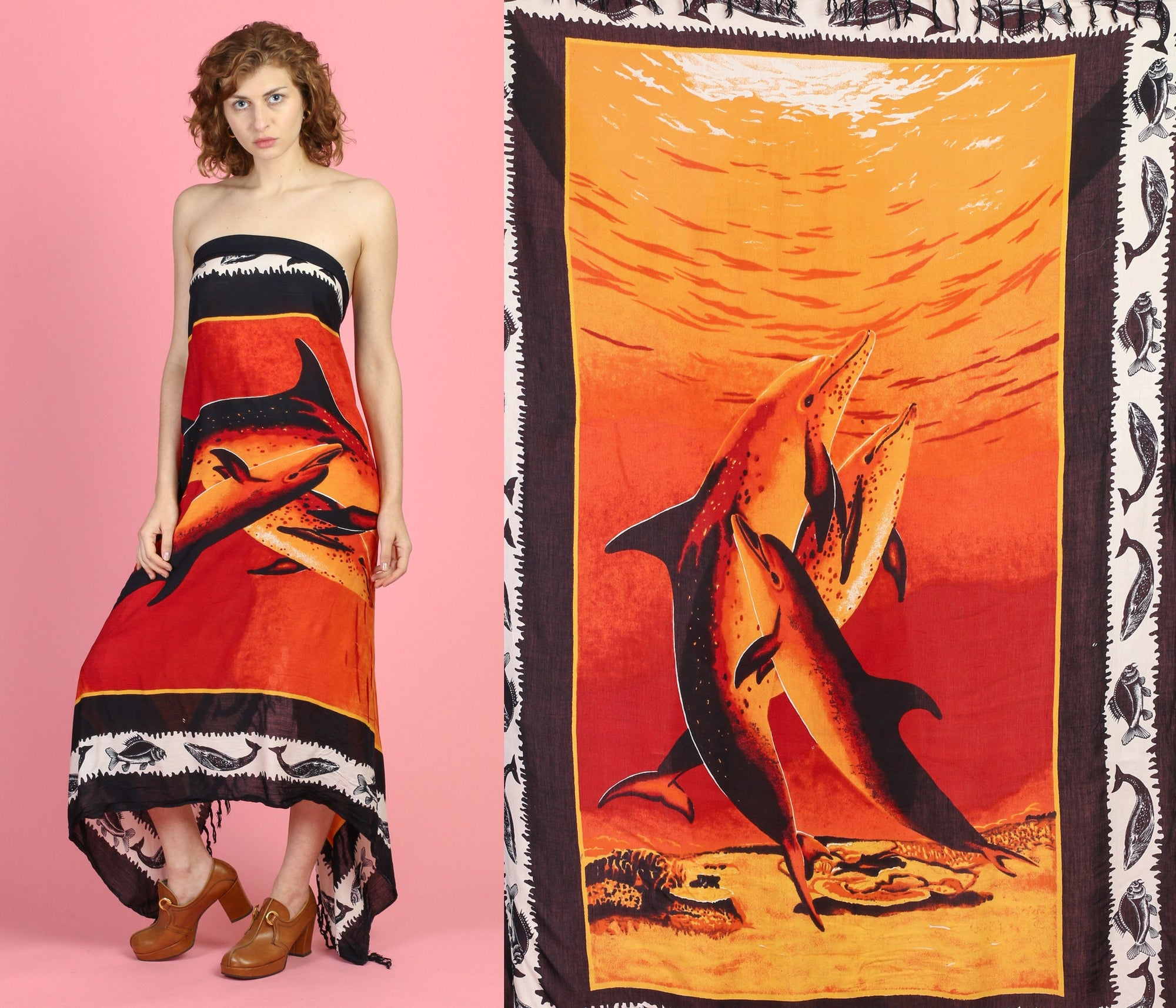 Vintage Dolphin Sarong
