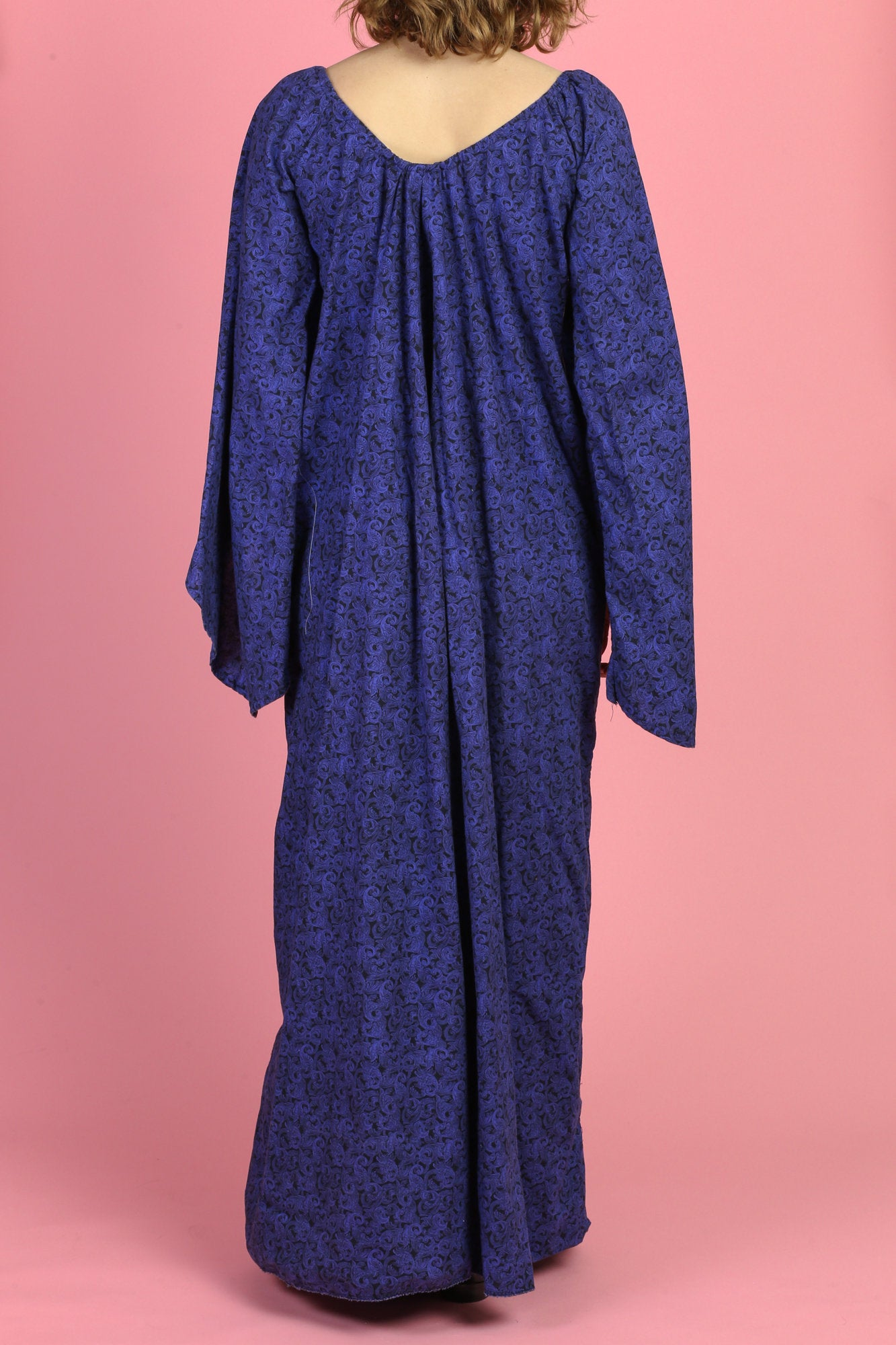 Vintage Witchy Angel Sleeve Maxi Dress - Extra Small