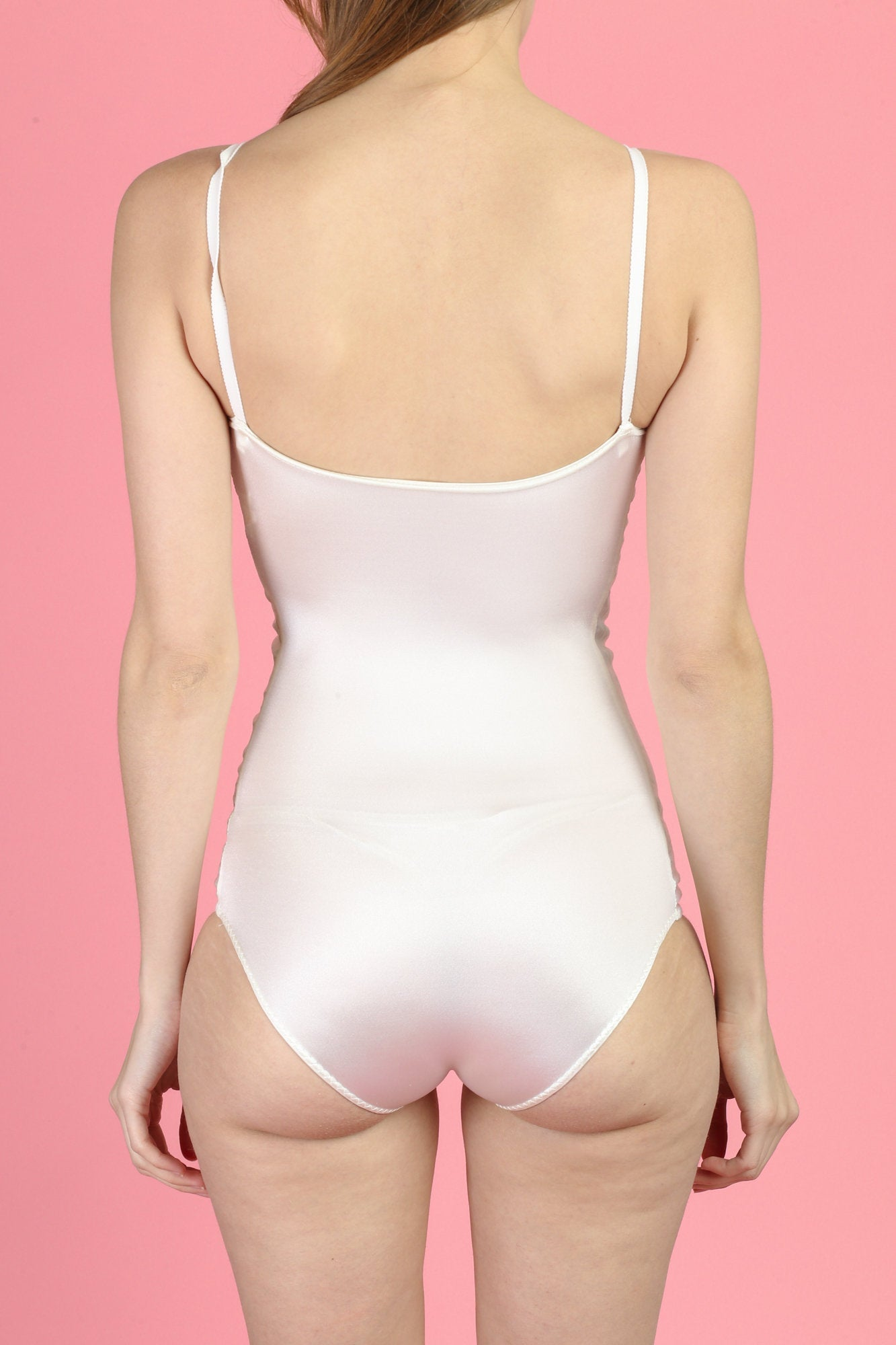 Vintage Satin Leotard Bodysuit - Extra Small