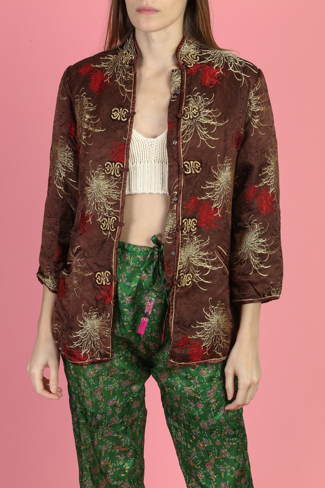 Vintage Chinese Silk Jacket - Small