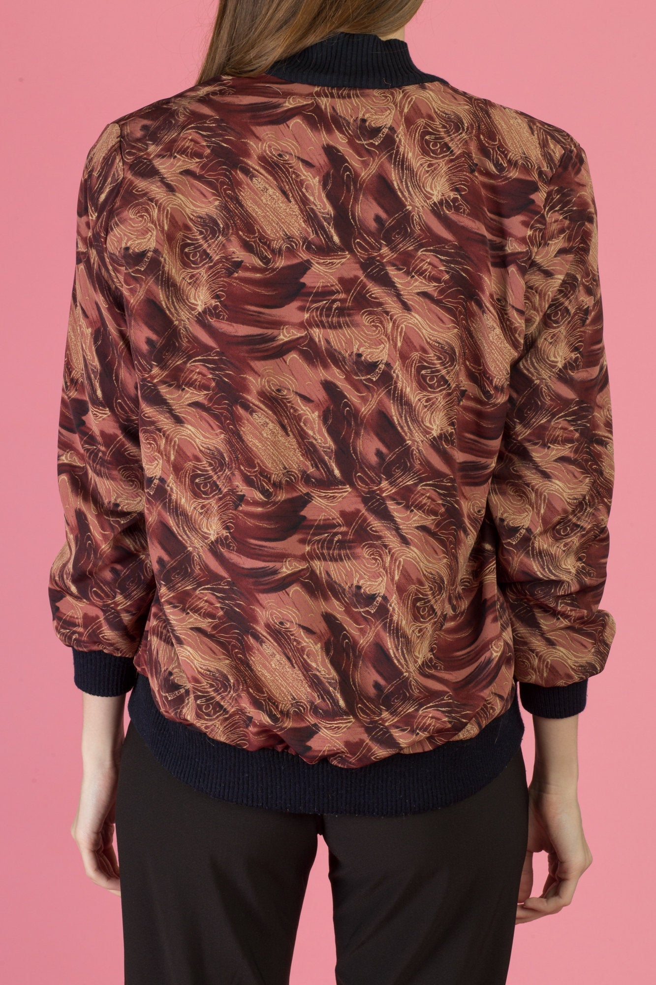 80s Silky Windbreaker Bomber - Extra Small