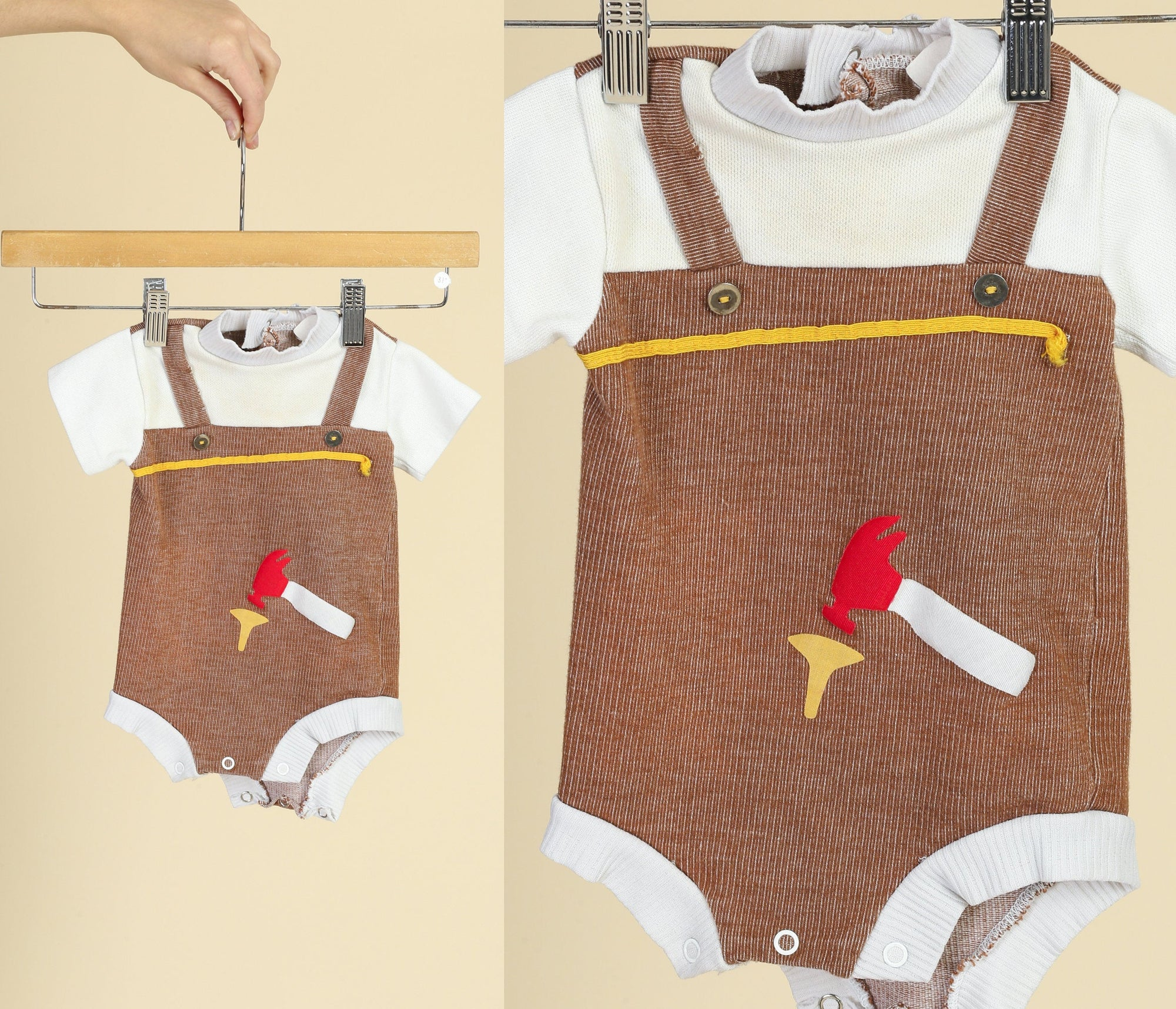 70s Hammer And Nail Onesie - 3-6 Months