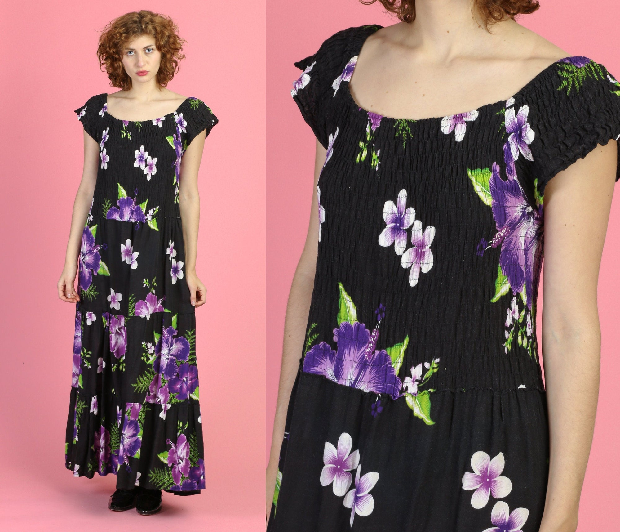 90s Floral Maxi Sundress - Small to Medium