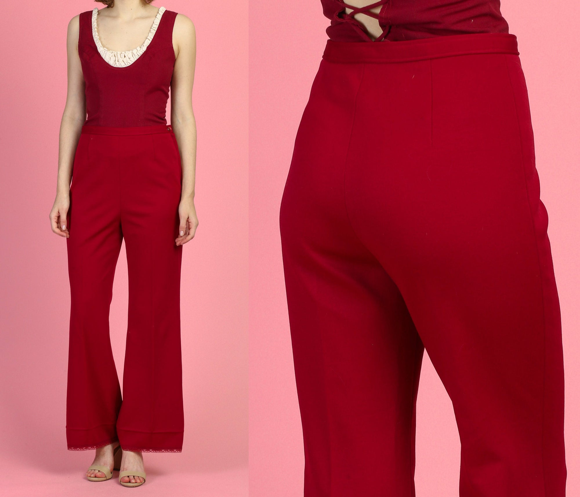 70s Flared Trousers - Medium