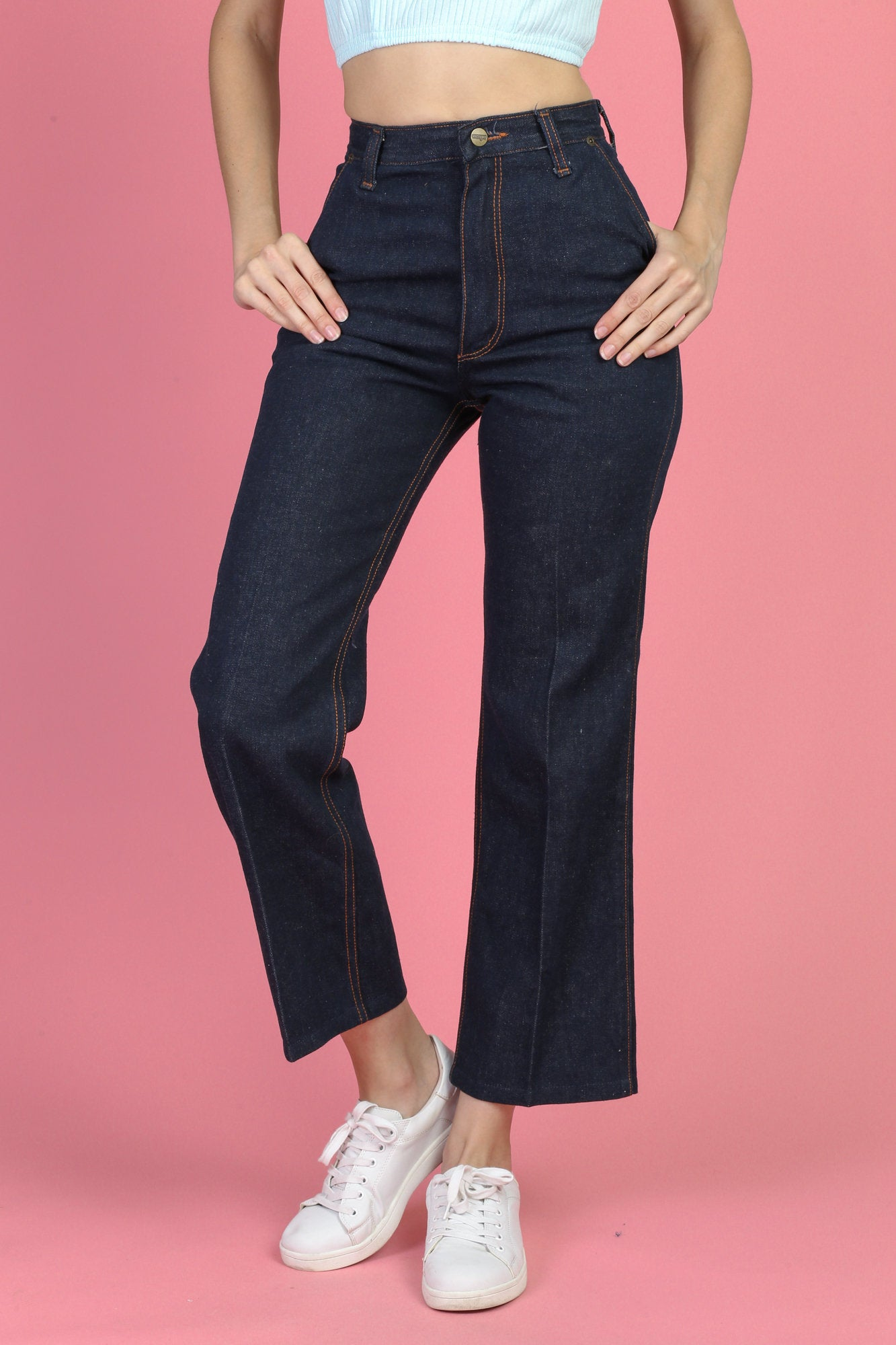 60s 70s Wrangler High Waisted Jeans - Small