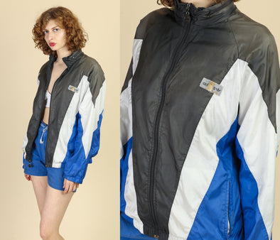 90s Adidas Striped Windbreaker - Men's Medium