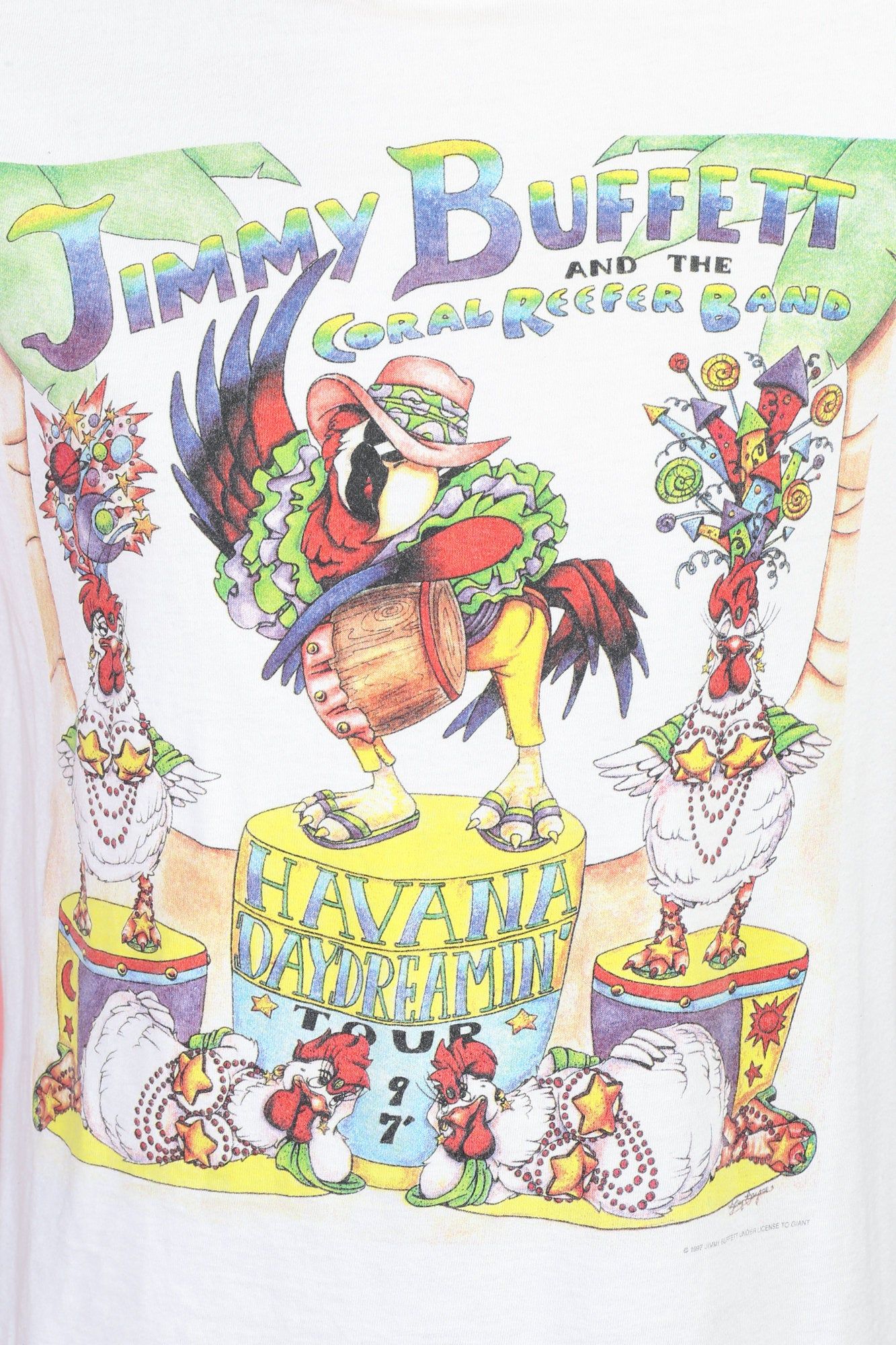 1997 Jimmy Buffett Havana Daydreamin' Tour T Shirt - Large