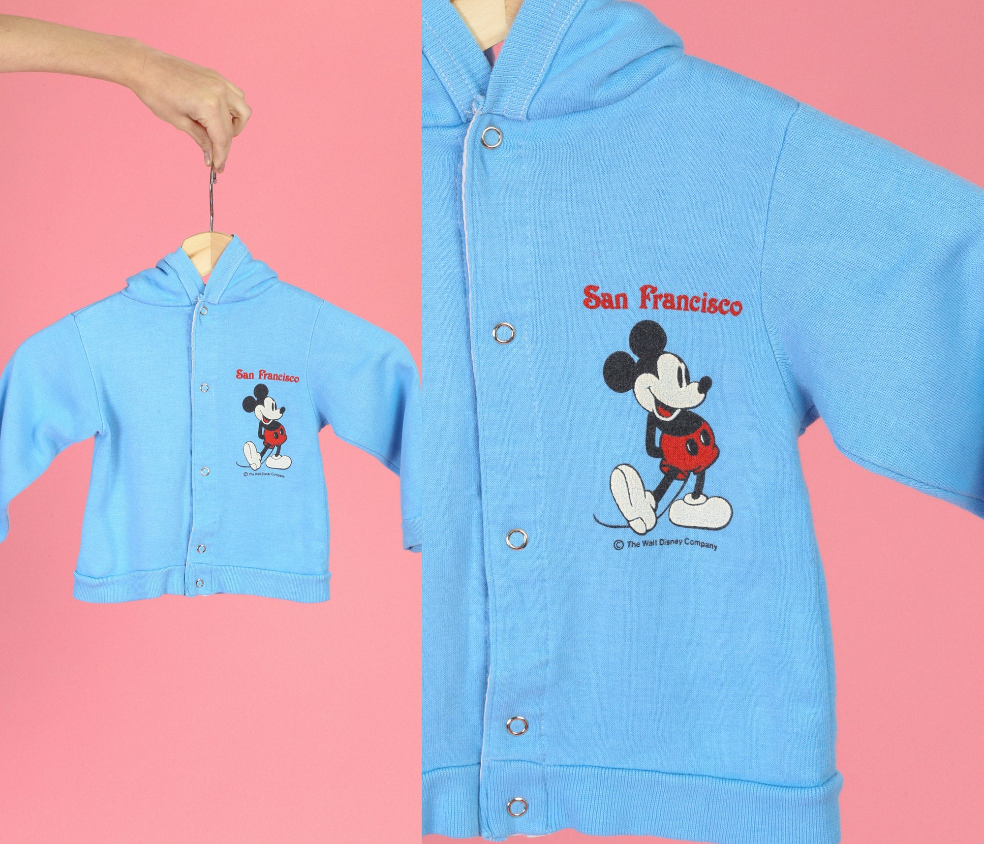 80s Mickey Mouse Hooded Toddler Sweatshirt - 2T