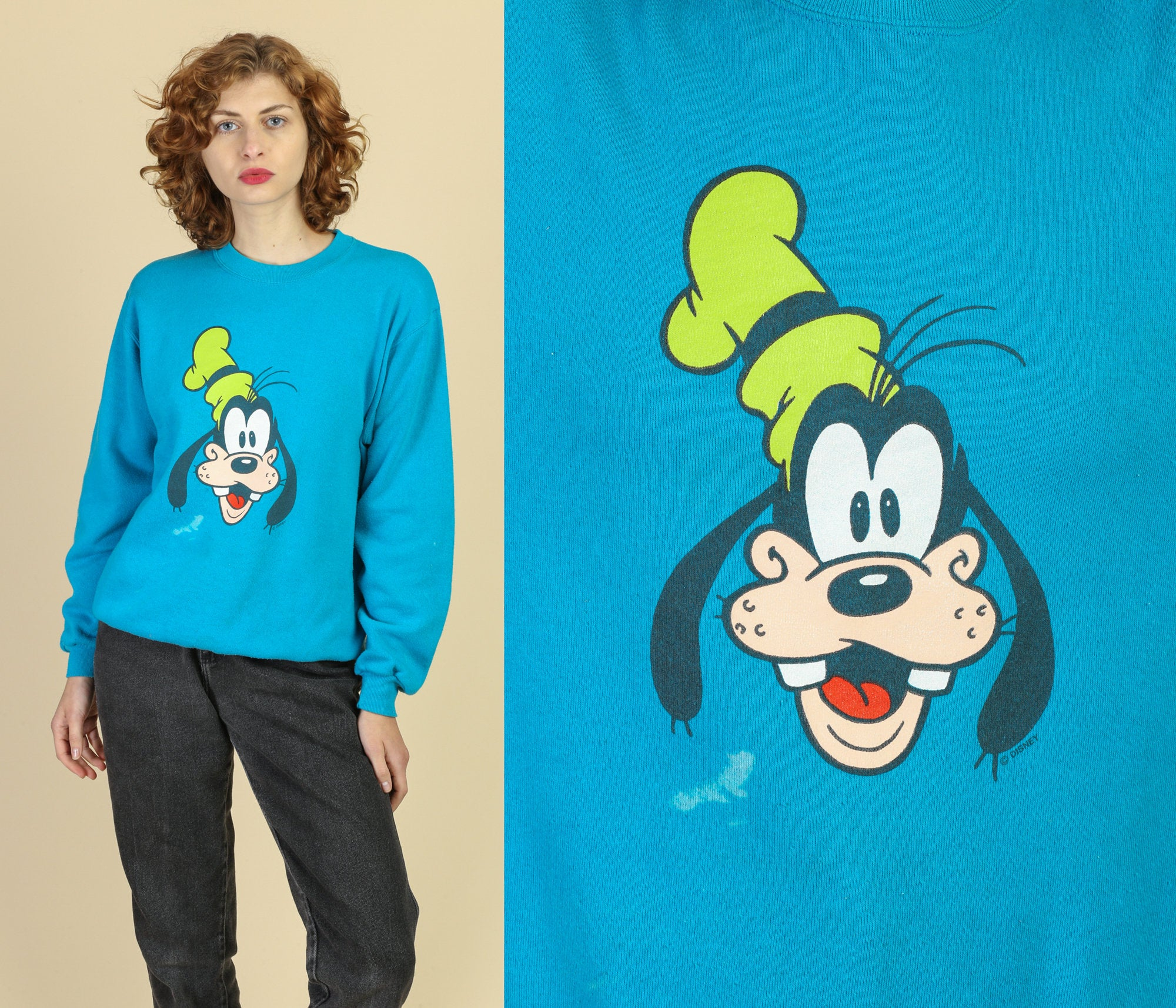 90s Goofy Cartoon Sweatshirt - Large