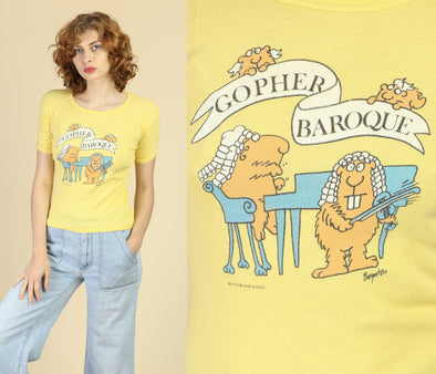"70s ""Gopher Baroque"" Classical Music T Shirt - Small"