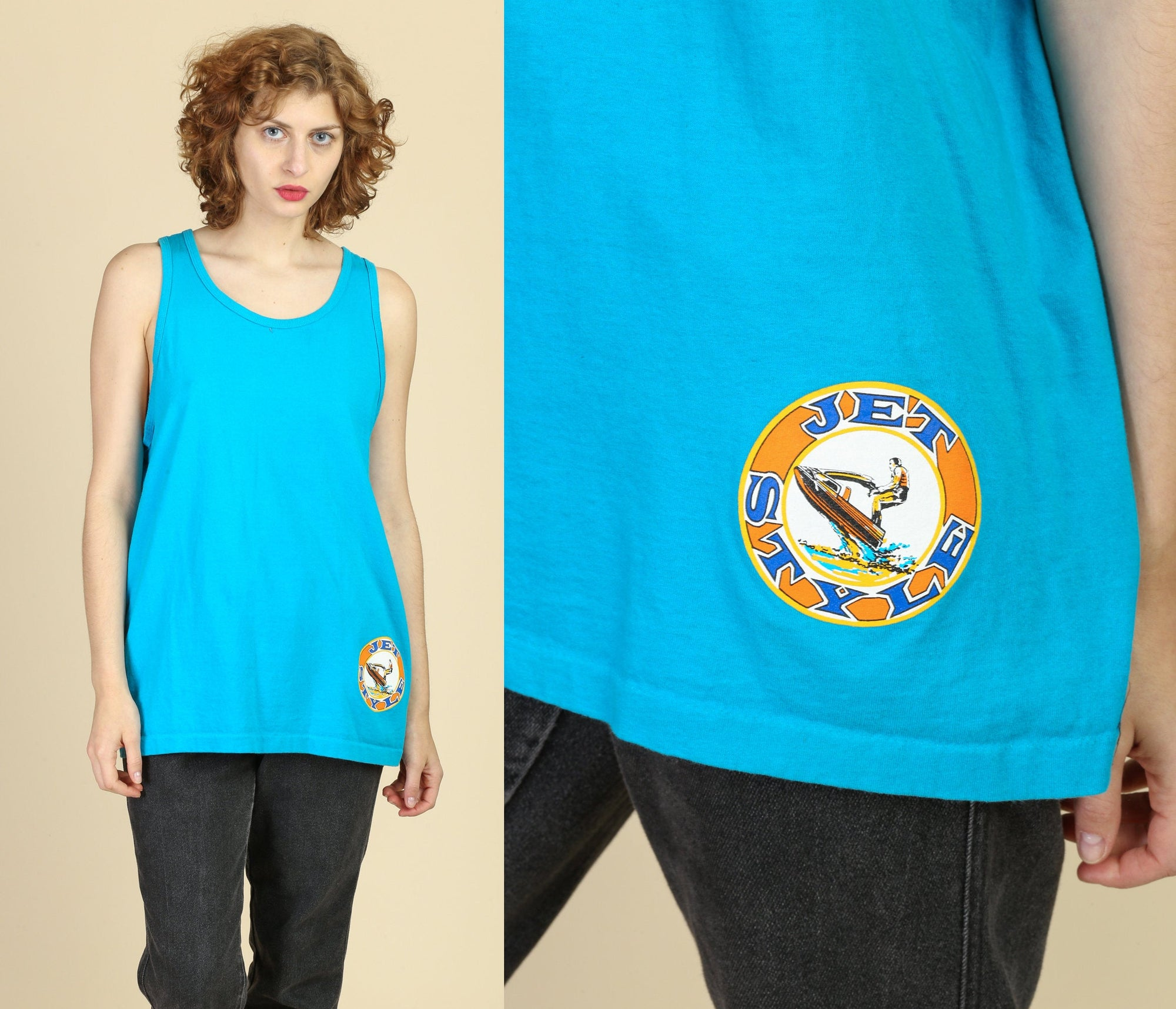 90s Jet Style Muscle Tank - Large