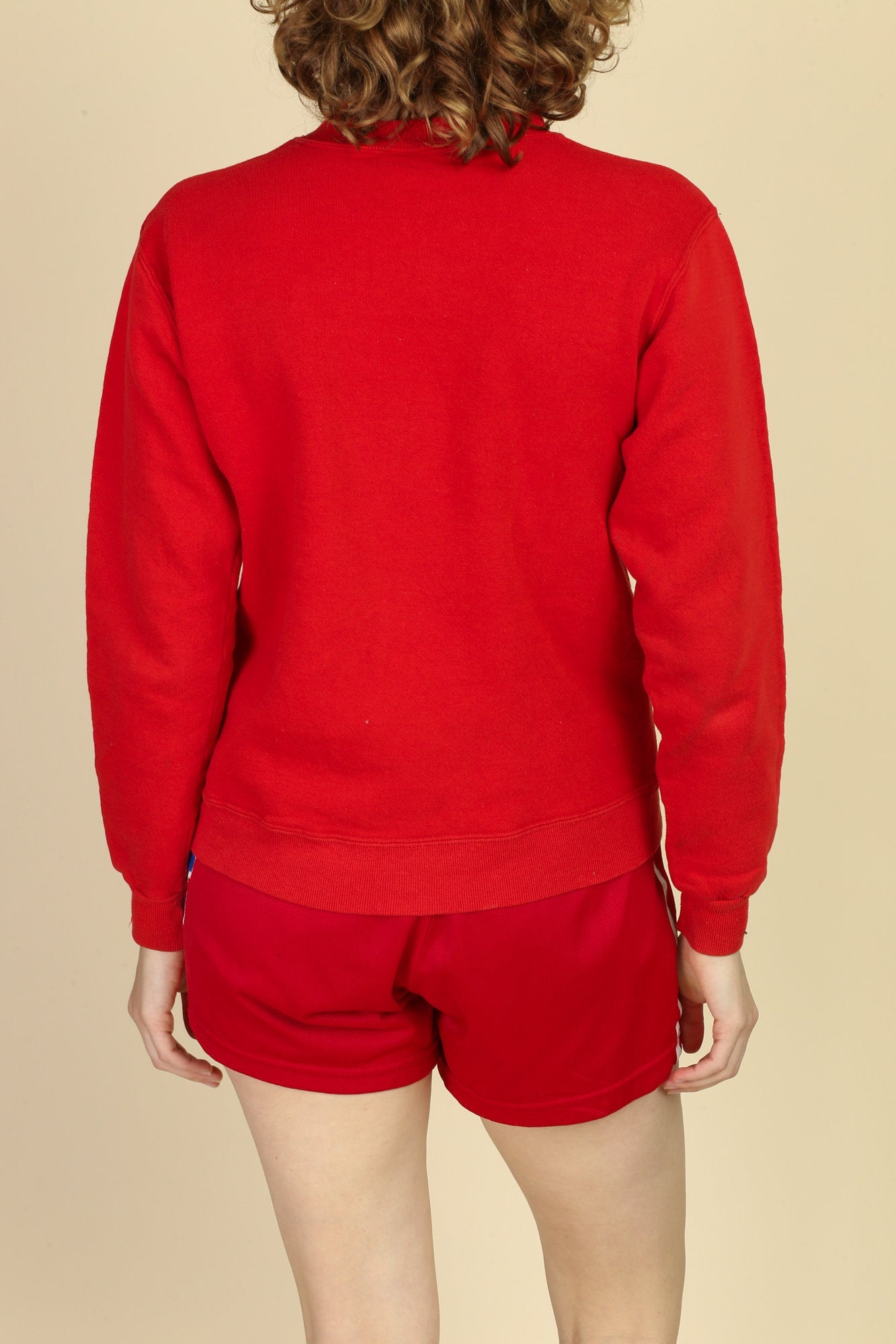 Vintage Russell Athletic Plain Red Sweatshirt - Small