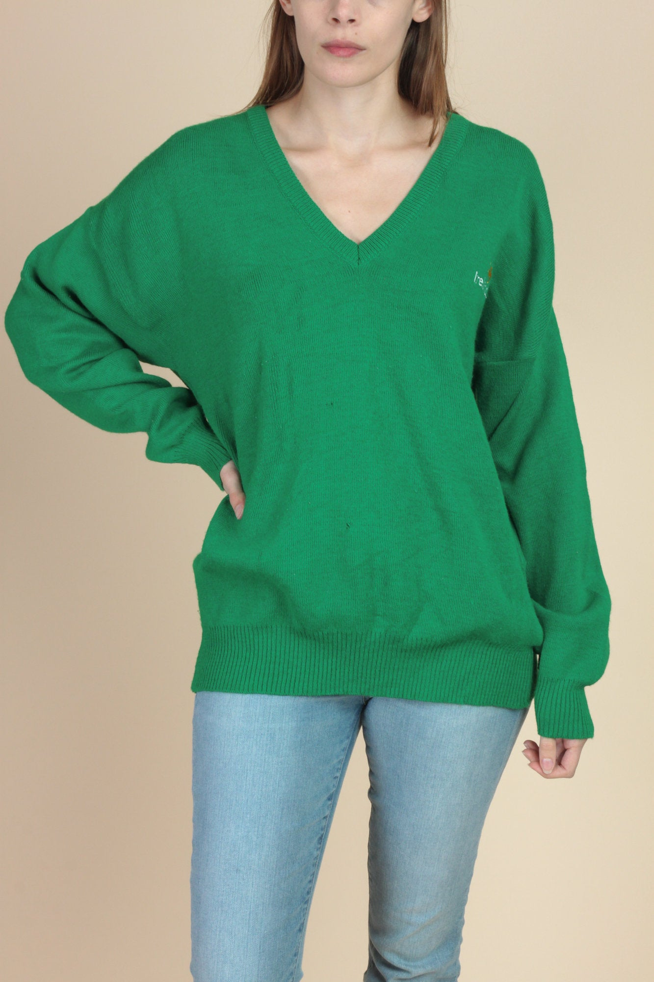Vintage Irish Shamrock Sweater - Extra Large
