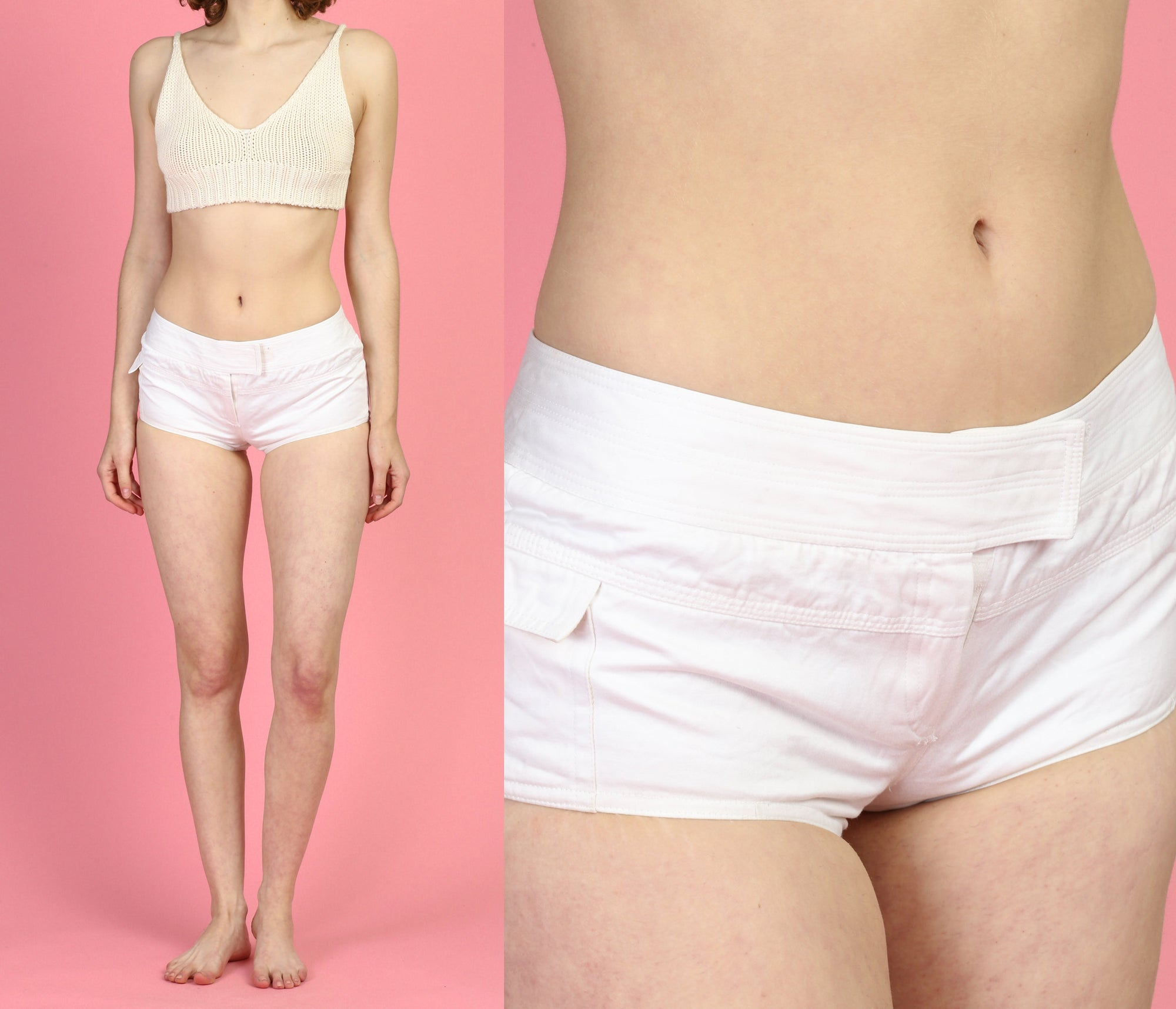 Richard Tyler Couture White Hot Pants - XS to Small