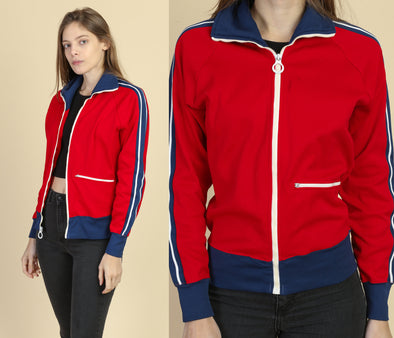 70s Striped Track Jacket - Small