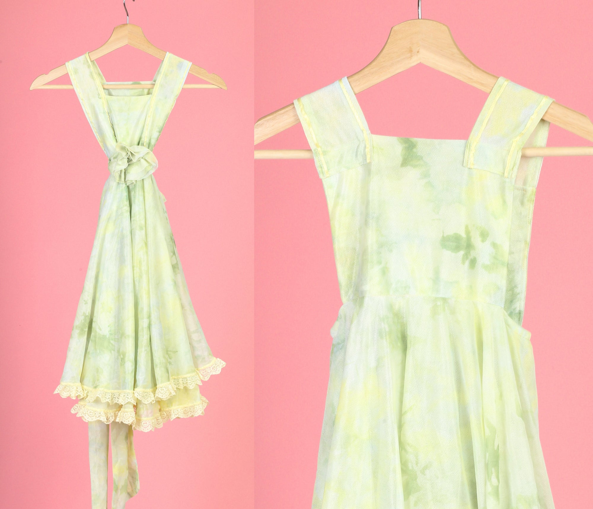 70s Girl's Pinafore Dress - 4T