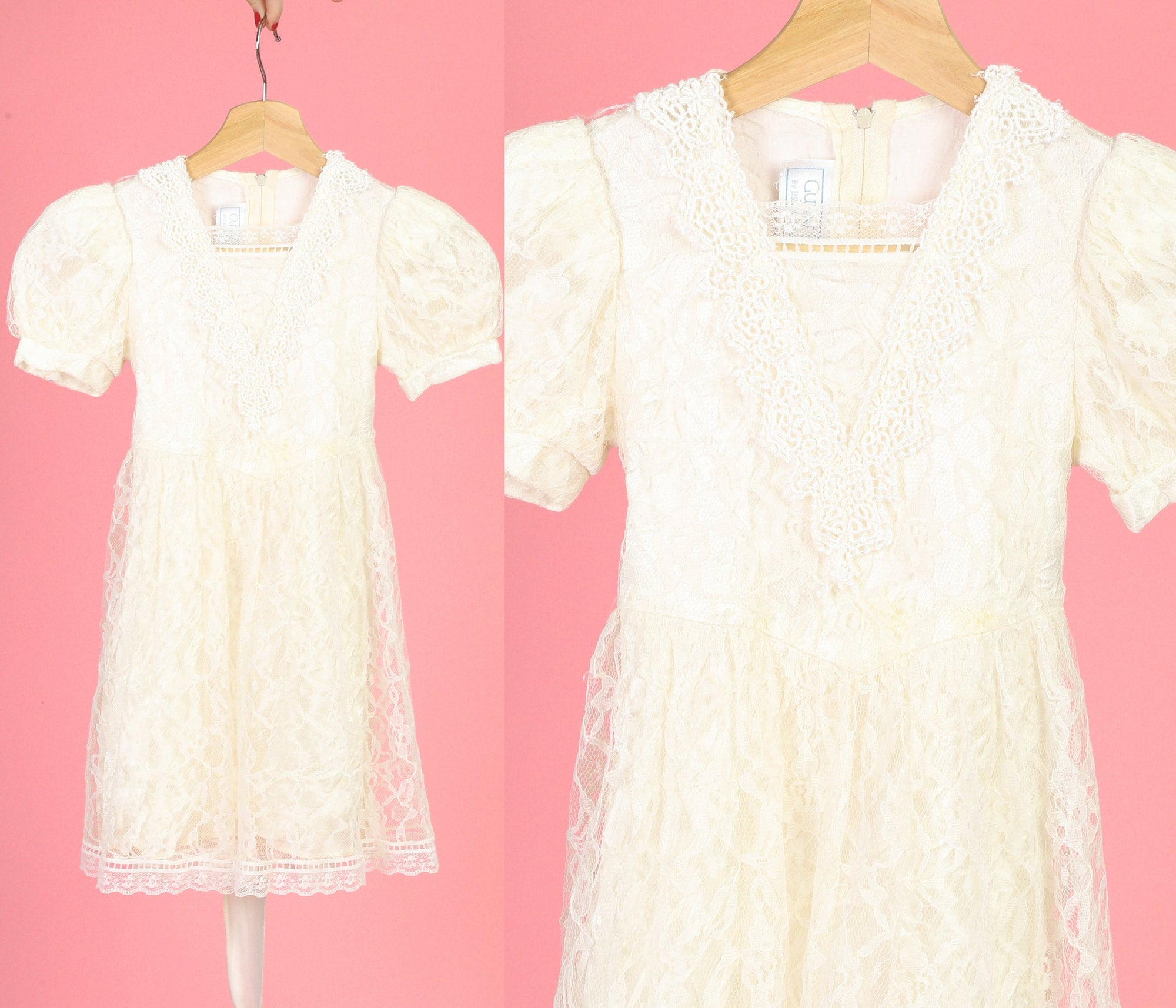 70s Gunne Sax Lace Toddler Dress - 2T 3T