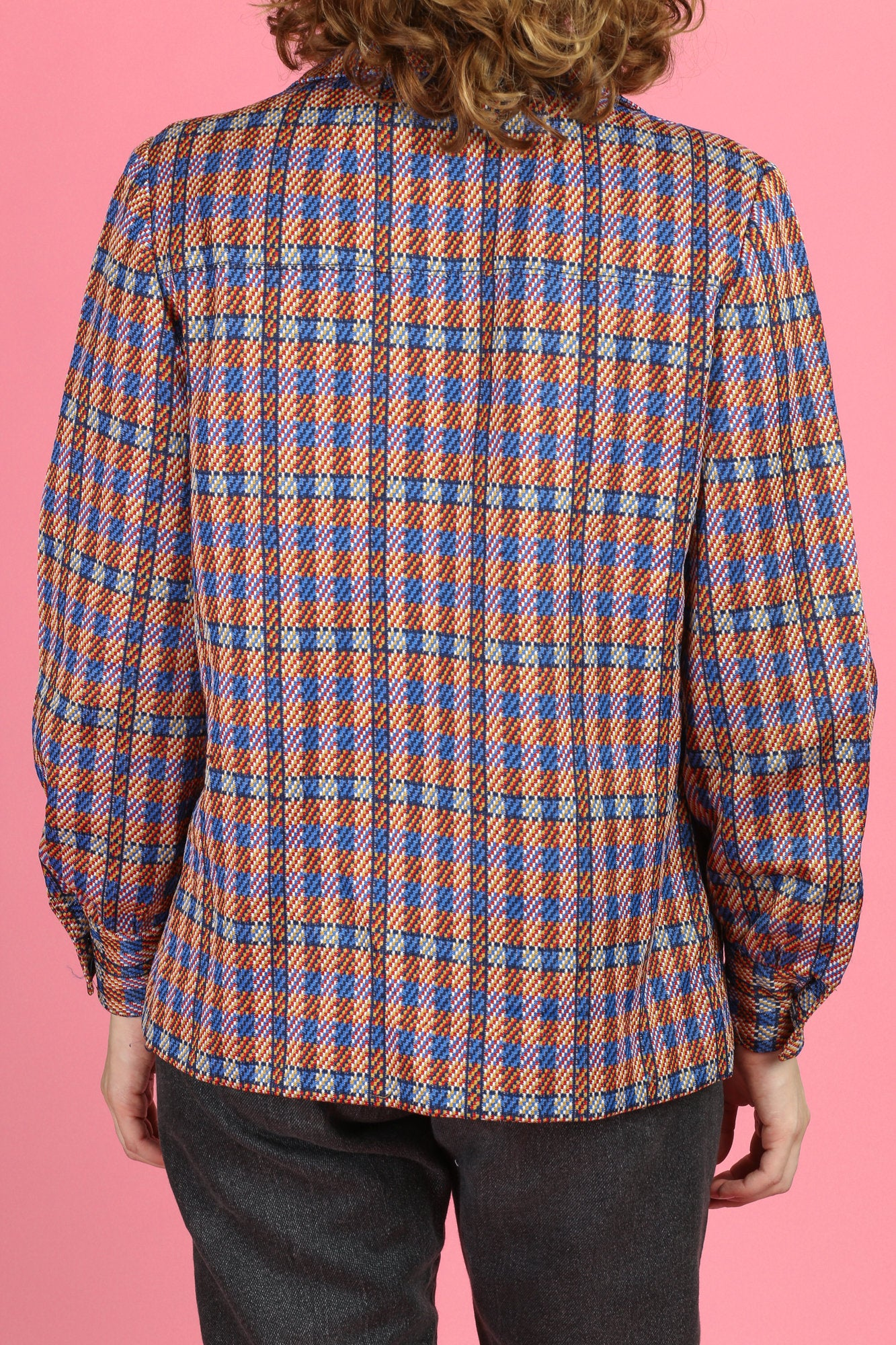 Vintage 60s Plaid Shirt - Medium