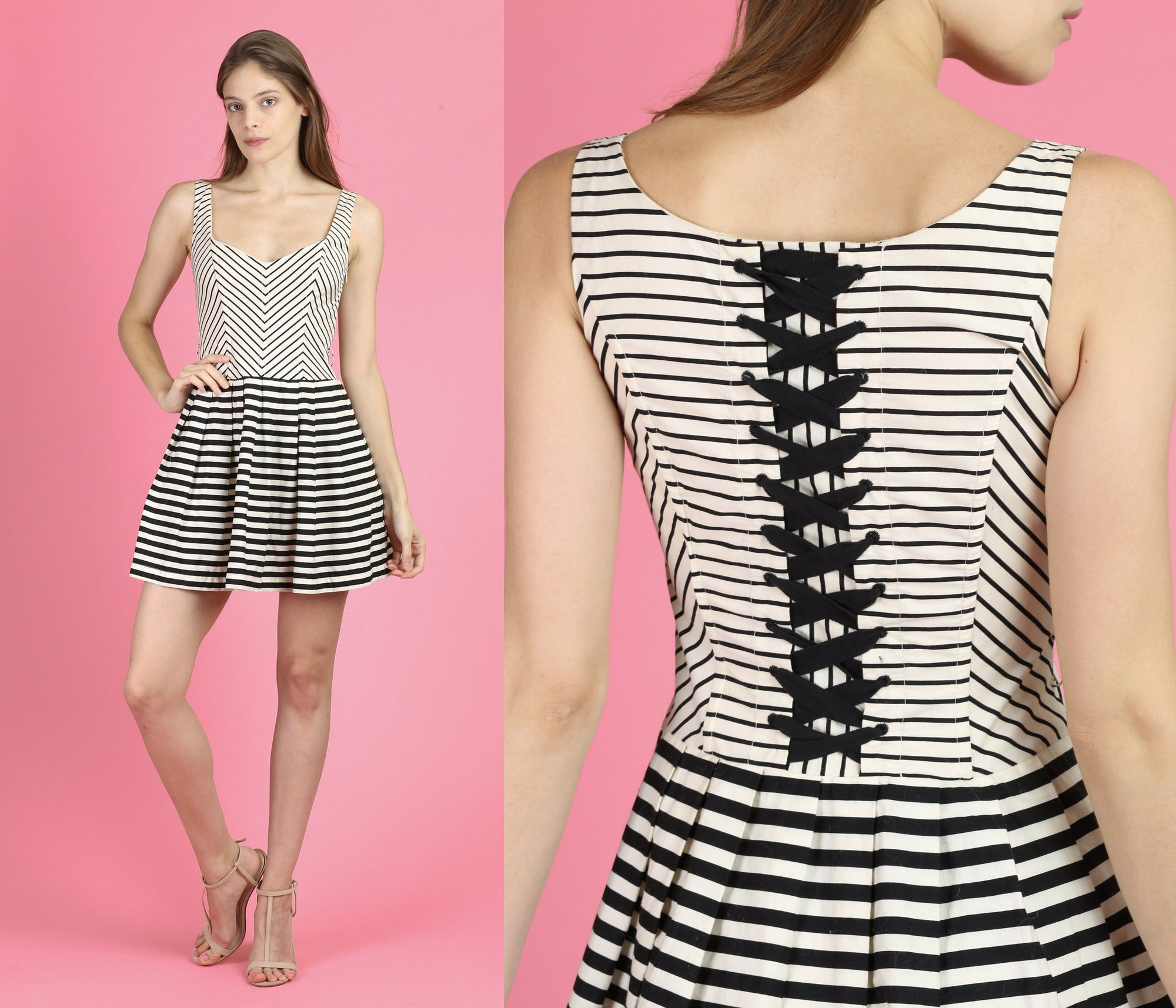 Nautical Corset Mini Dress - Extra Small
