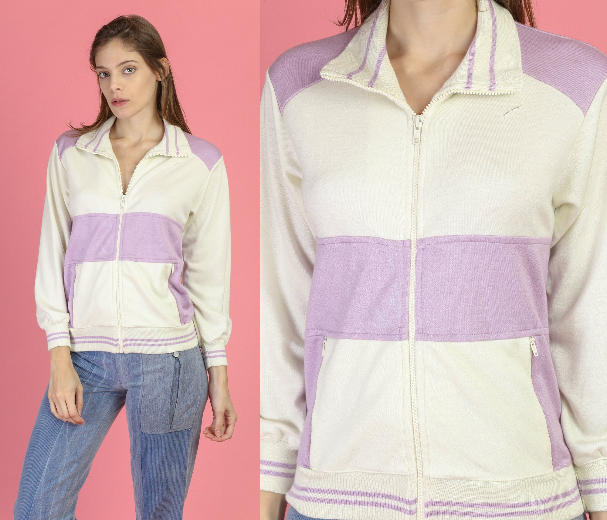 80s Jog Joy Zip Up Track Jacket - Small