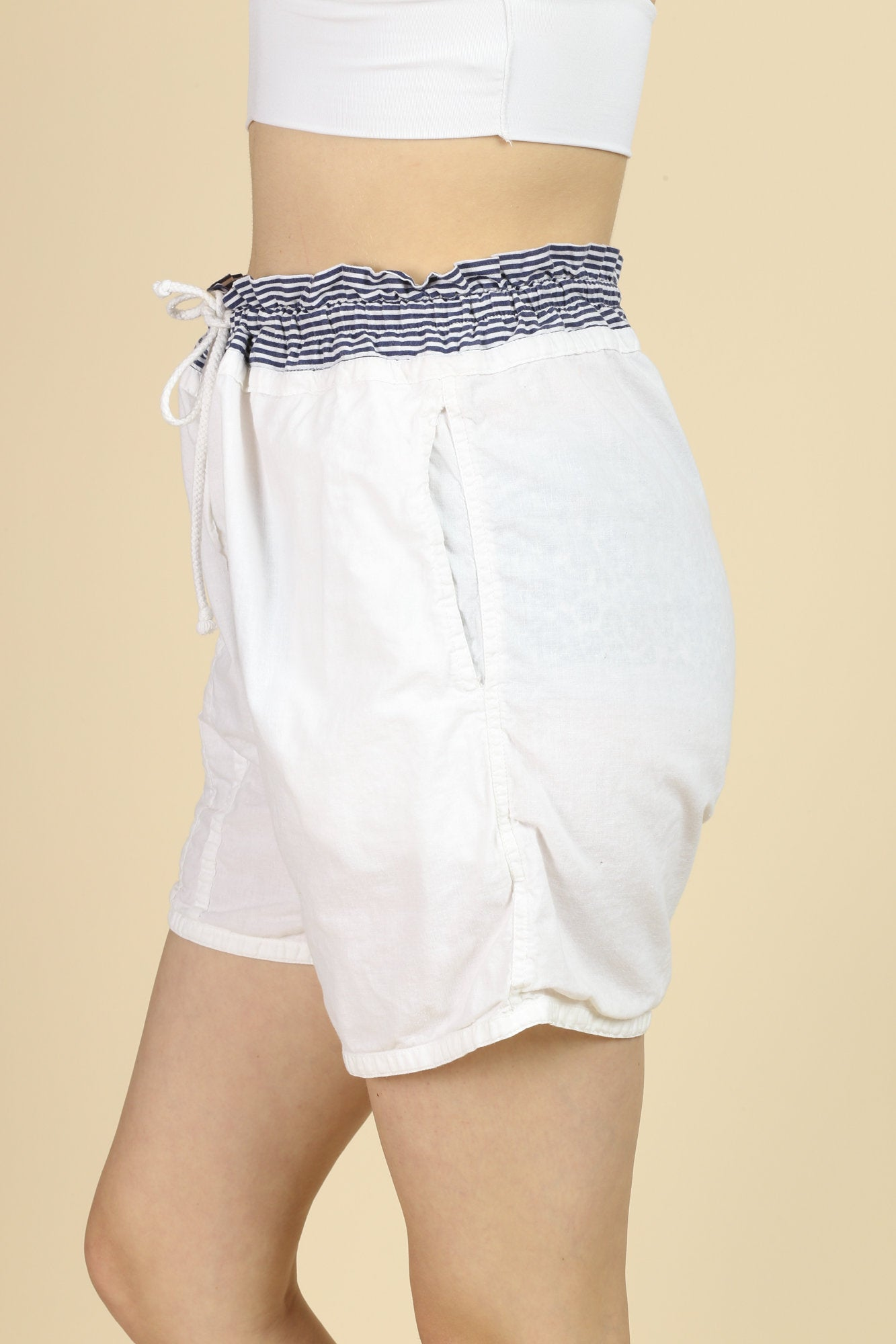 80s Energie Bi Currant High Waisted Summer Shorts - Large