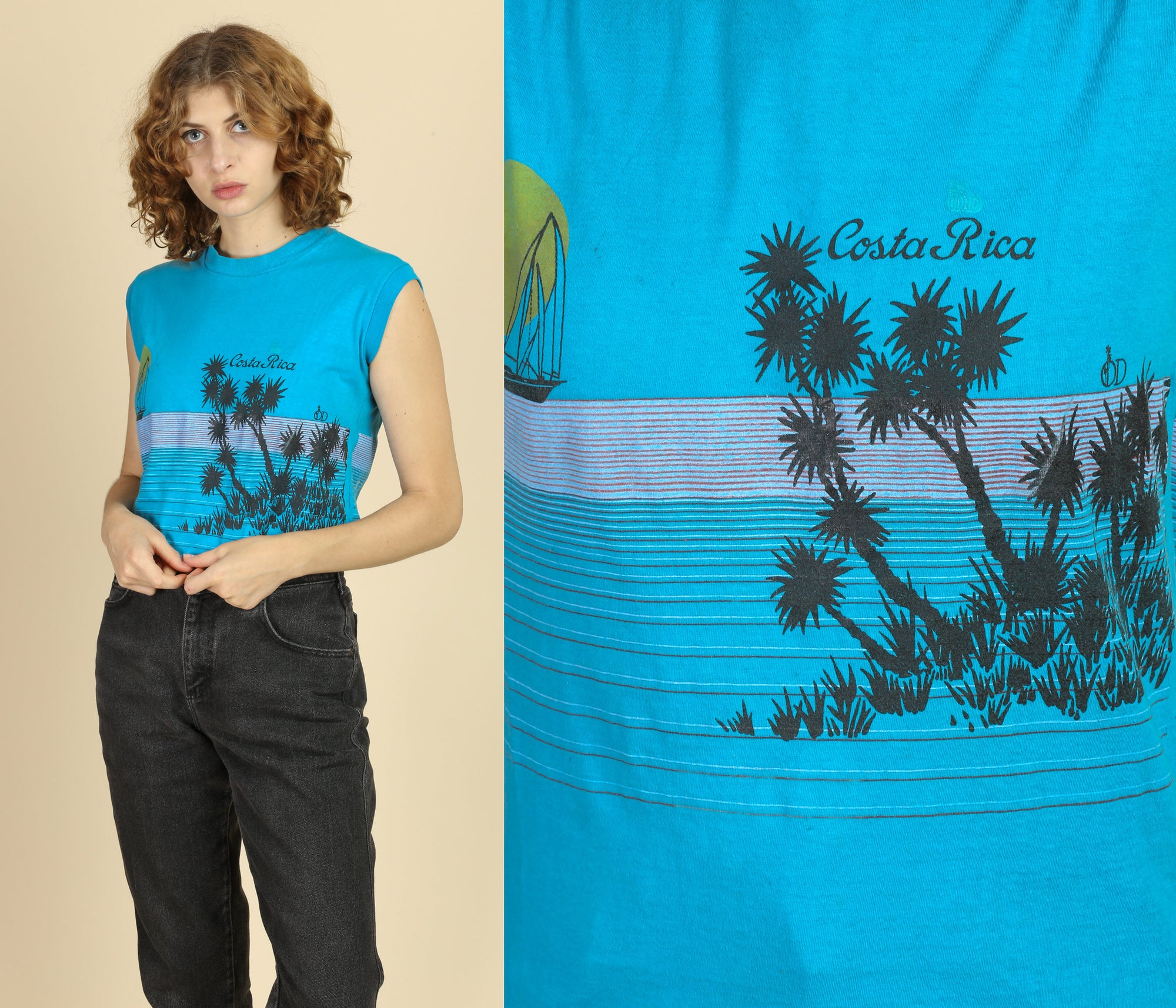 80s Costa Rica Muscle Tank - Small