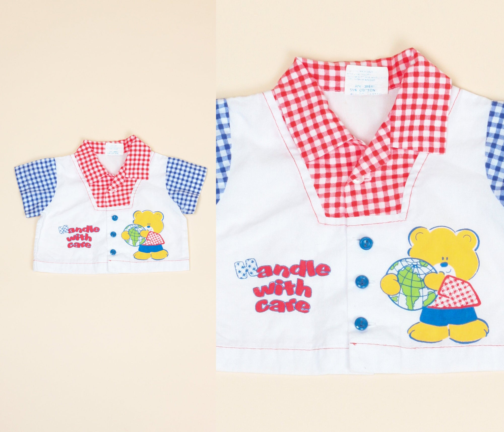 "70s ""Handle With Care"" Earth Baby Shirt - 0-6 Months"