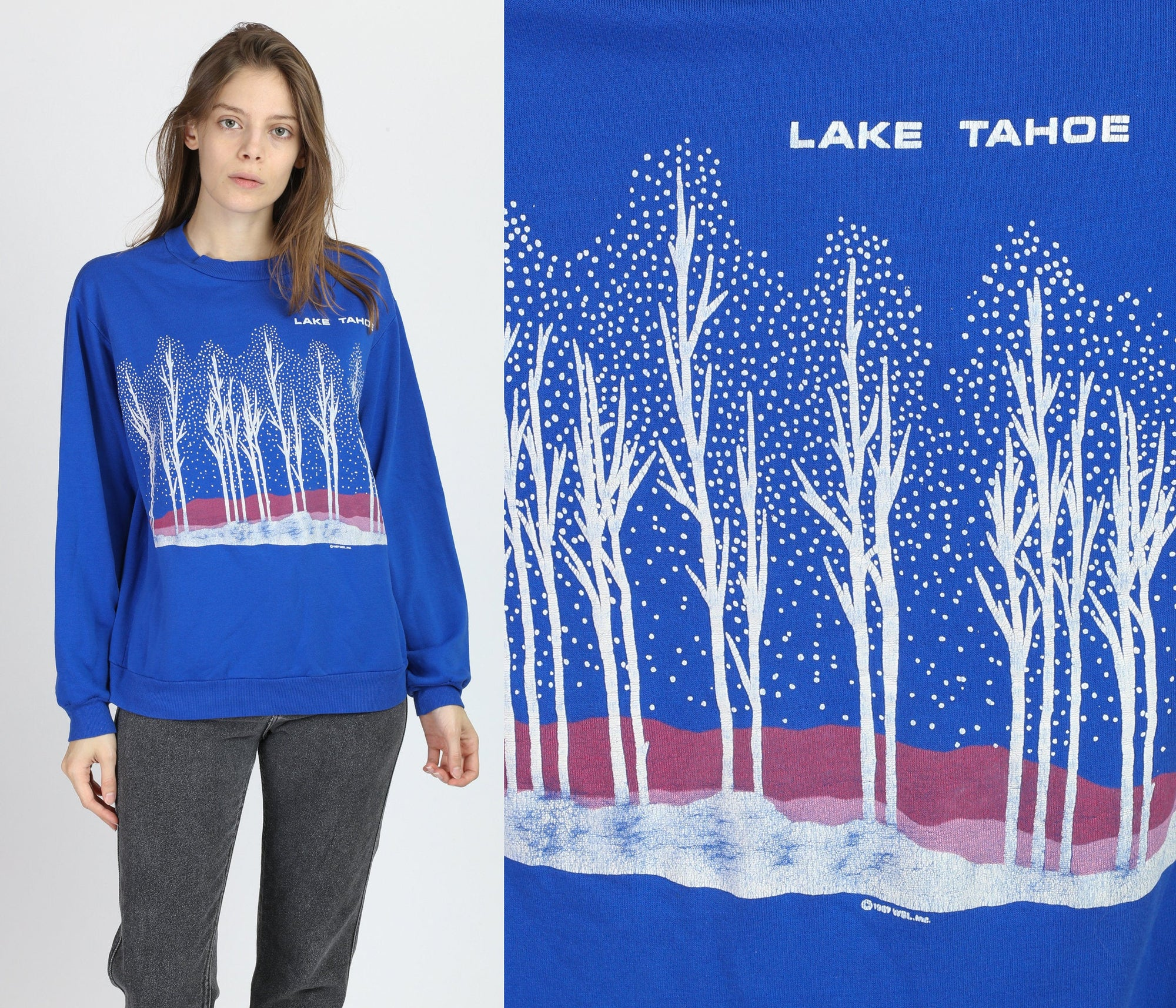 80s Lake Tahoe Sweatshirt - Large