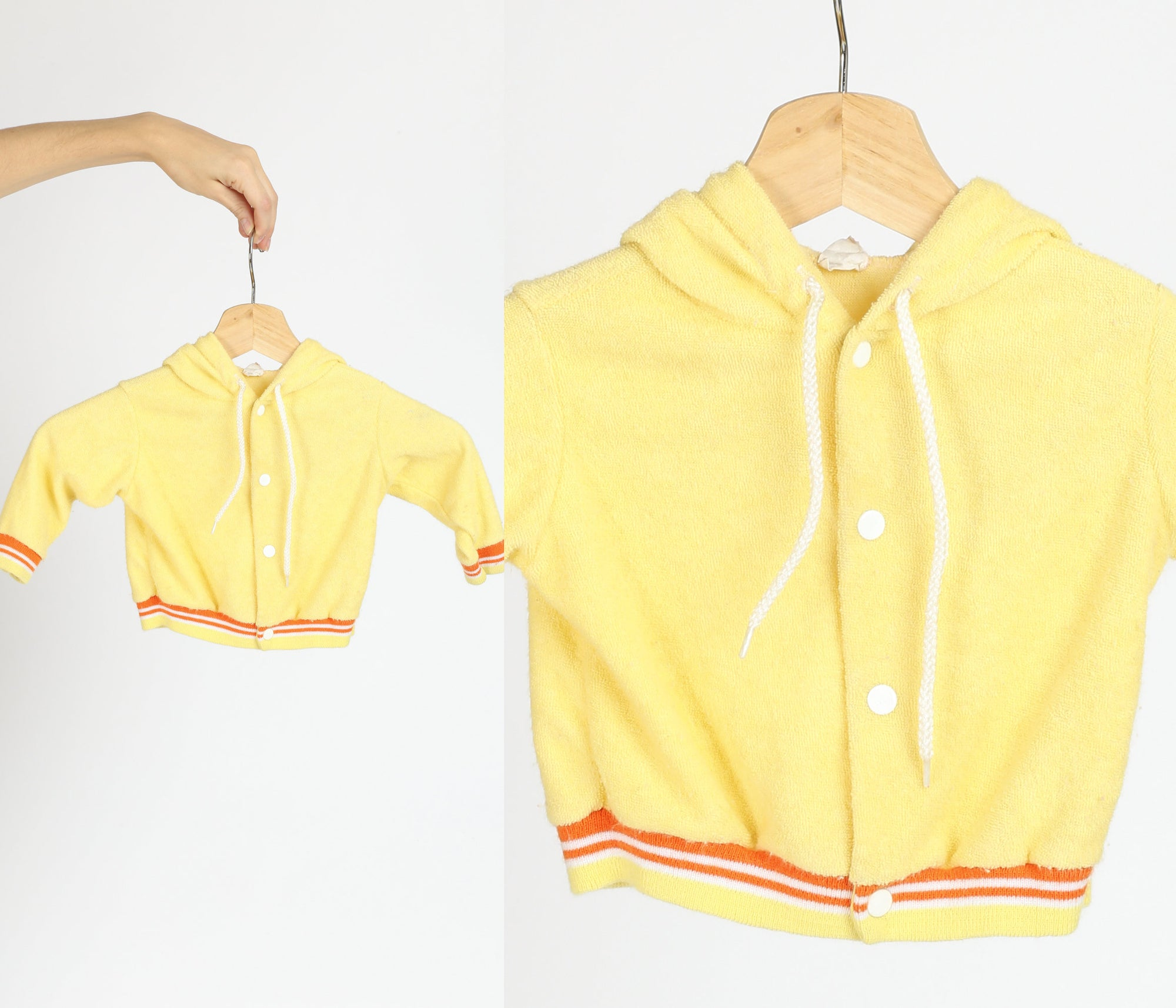 70s Toddler Terrycloth Hooded Jacket - 18 Months