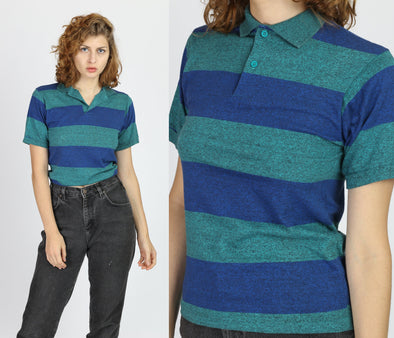 90s Striped Rugby Shirt - Extra Small