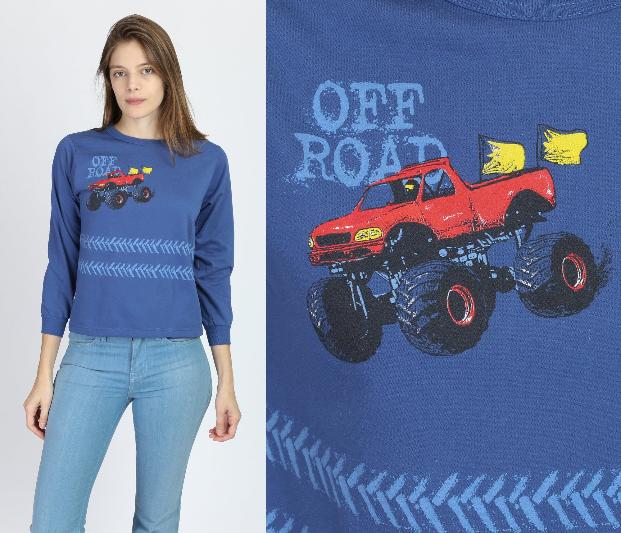 80s Off-Roading Long Sleeve Top - Extra Small