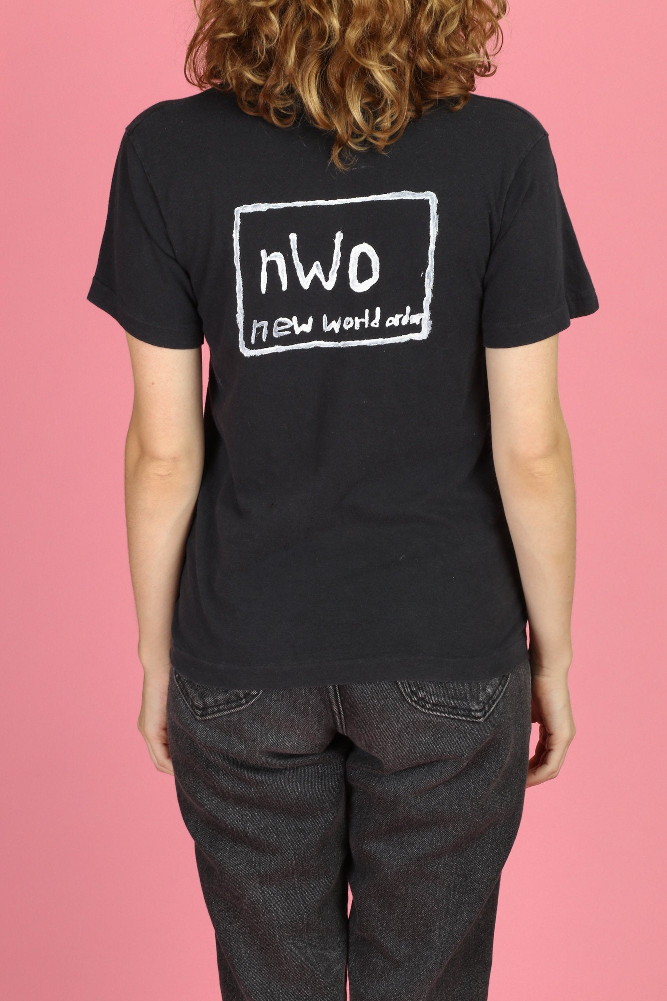 90s NWO New World Order Wrestling T Shirt - Small