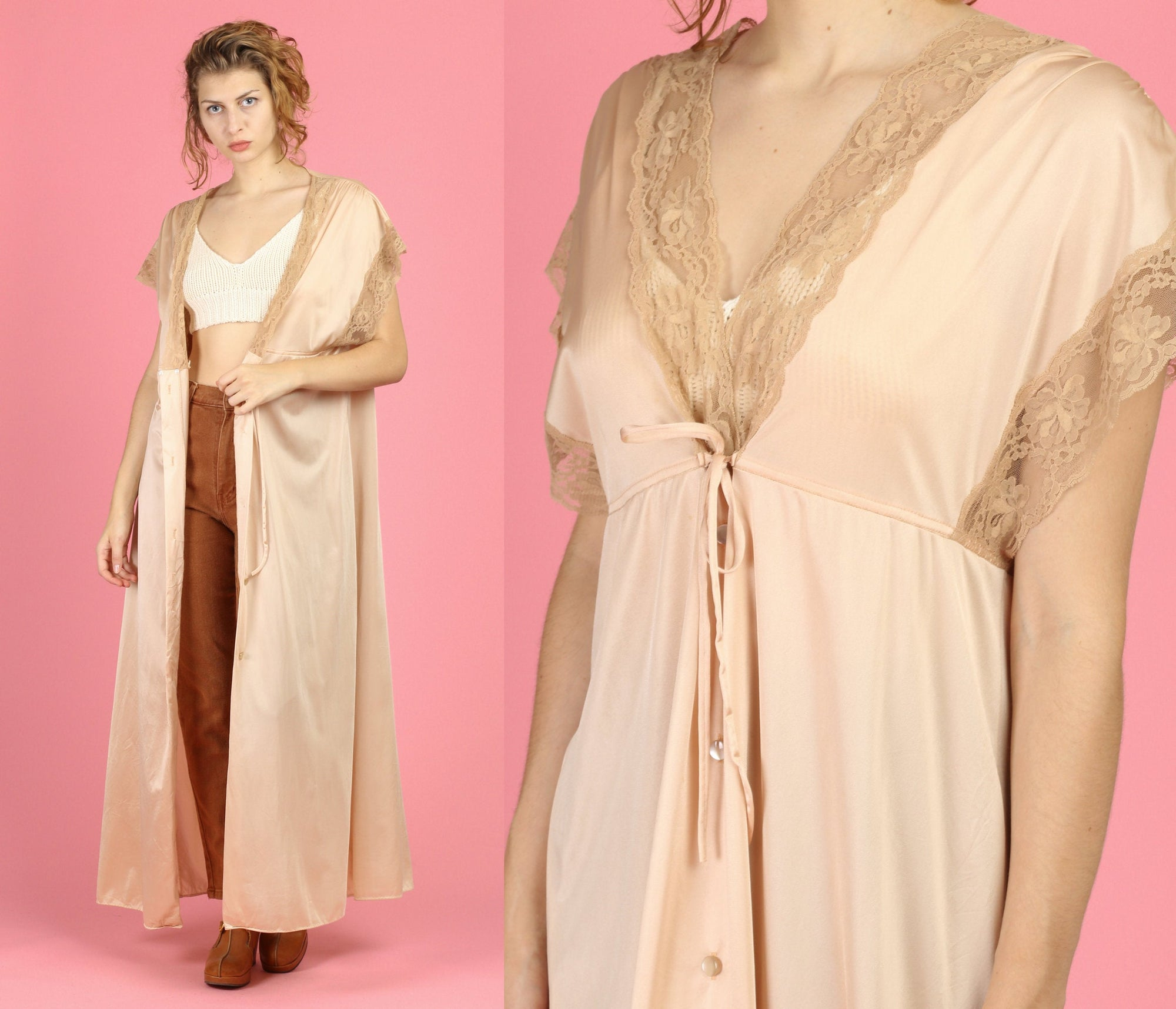 70s Saks Fifth Avenue Peignoir - Small to Large