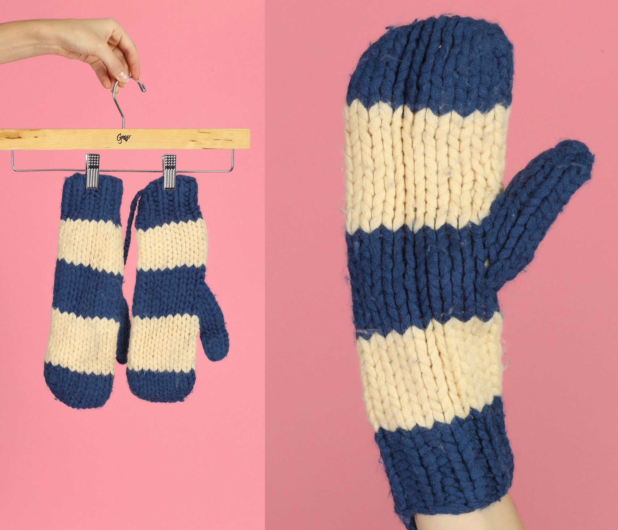 Vintage Marc Jacobs Striped Winter Mittens
