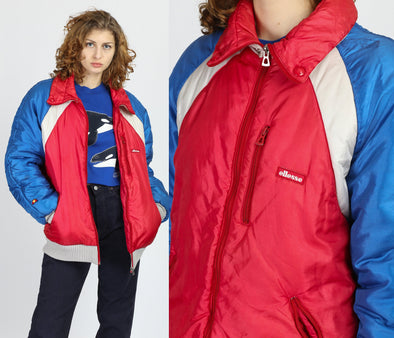 80s Ellesse Color Block Puffer Ski Jacket - Size 40