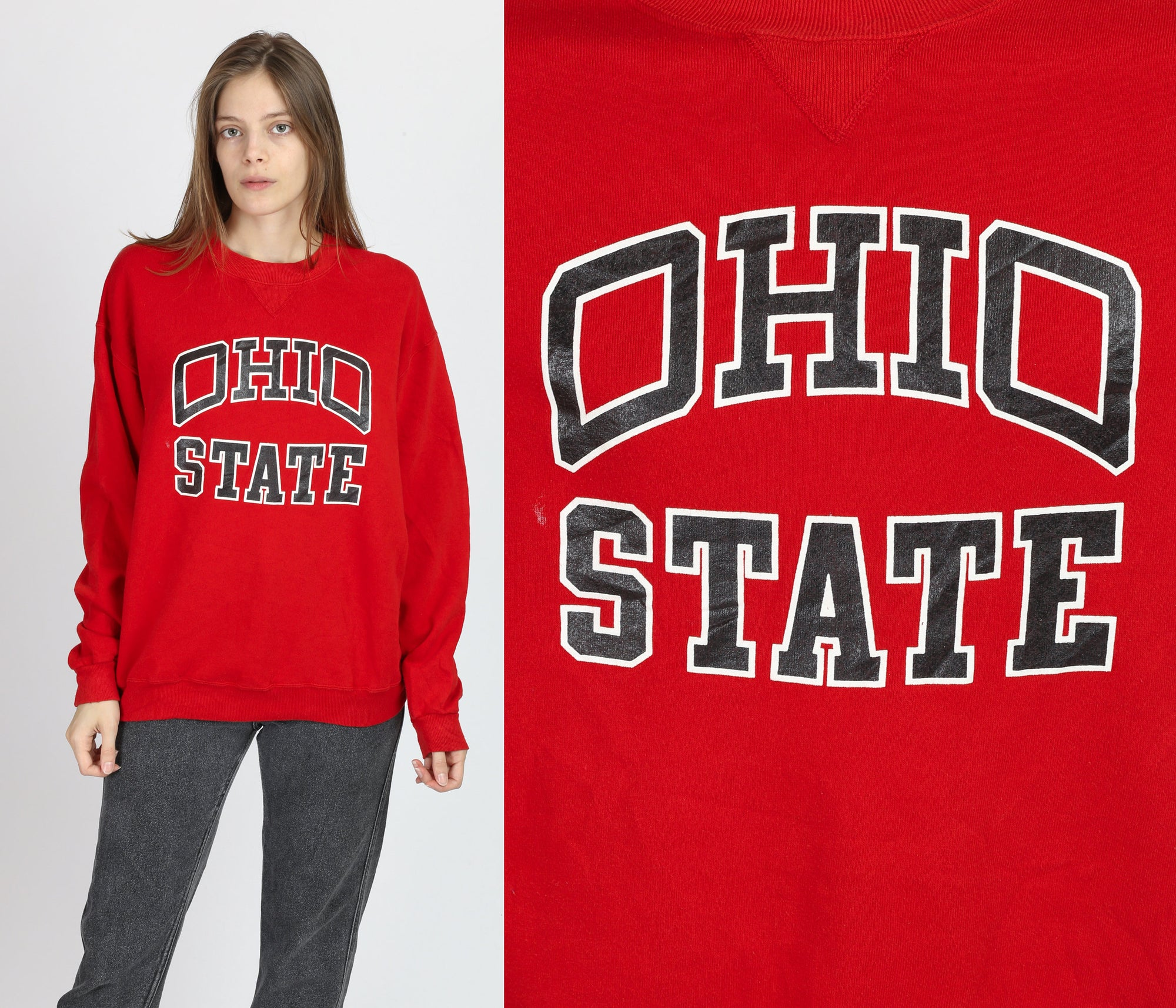 90s Ohio State University Sweatshirt - Men's Large