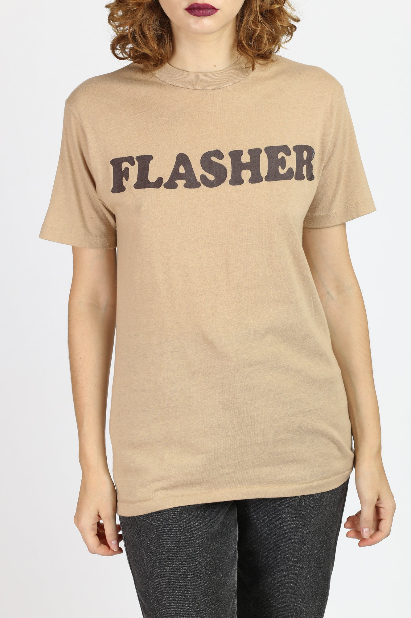 "80s ""Flasher"" Graphic Tee - Medium to Large"