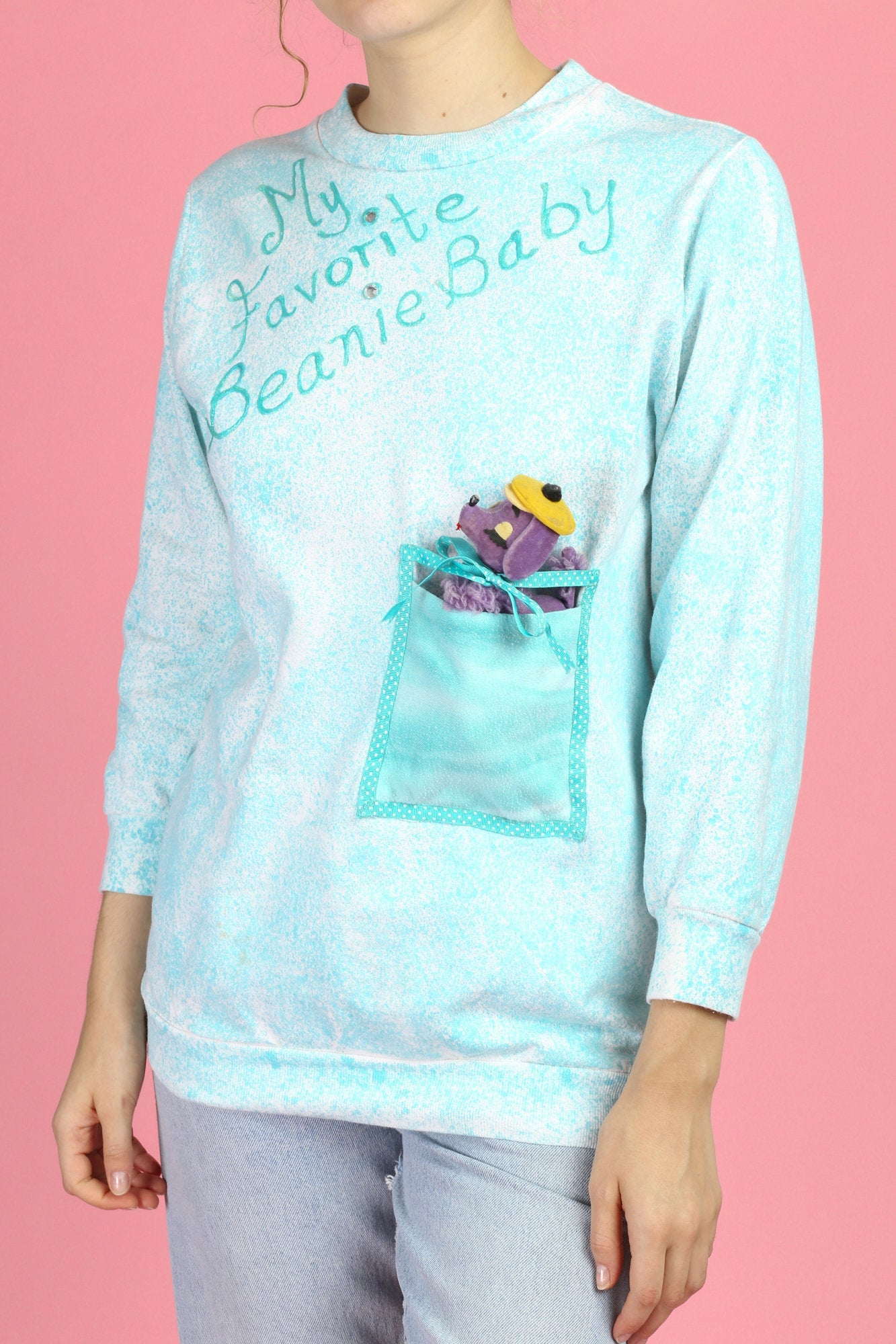 "90s ""My Favorite Beanie Baby"" Sweatshirt - Small"