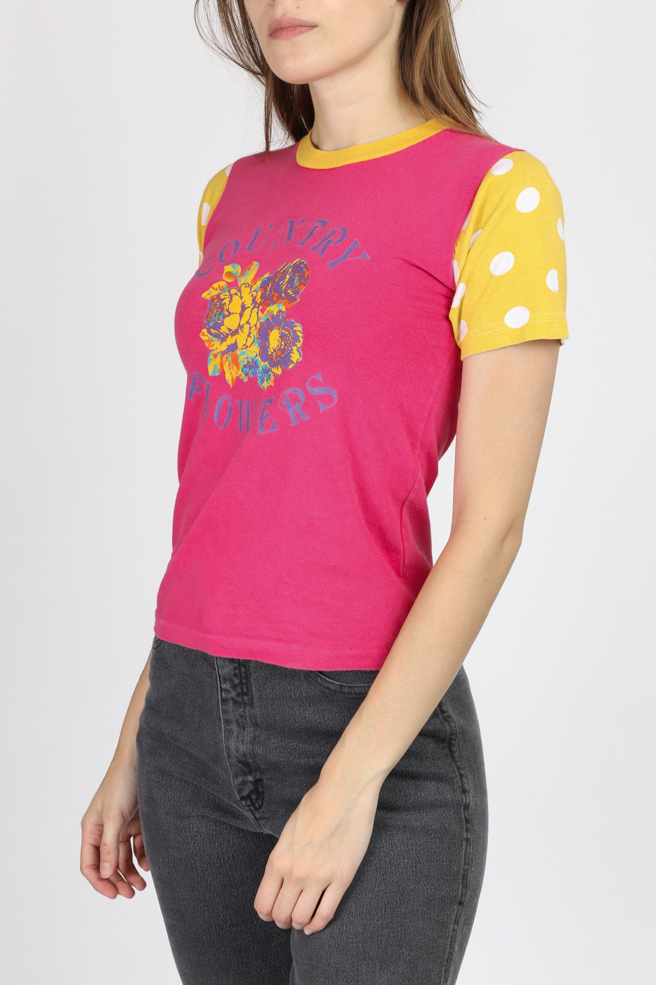 90s Country Flowers Girly Tee - XXS