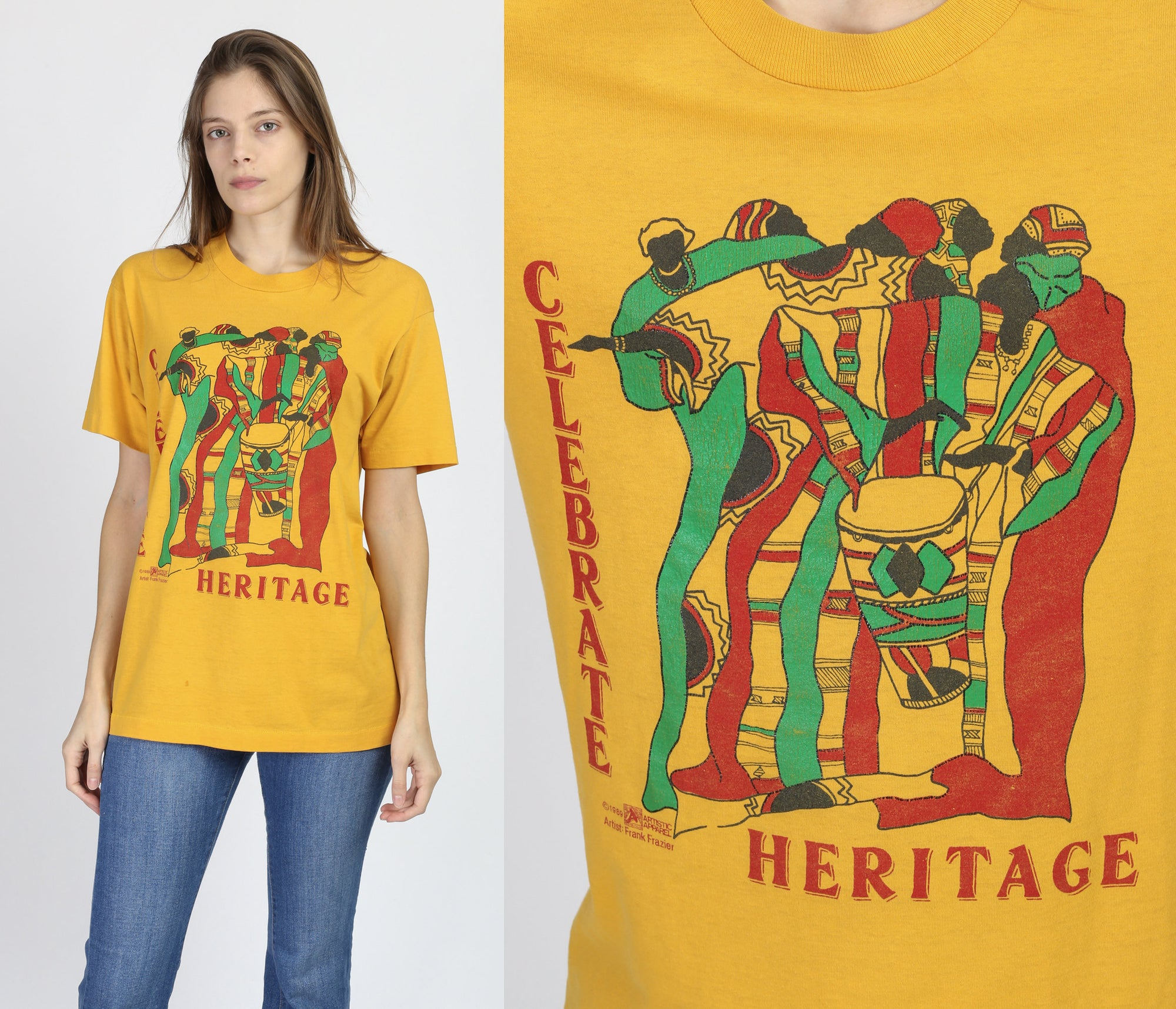 Vintage African Celebrate Heritage Graphic Tee - Large