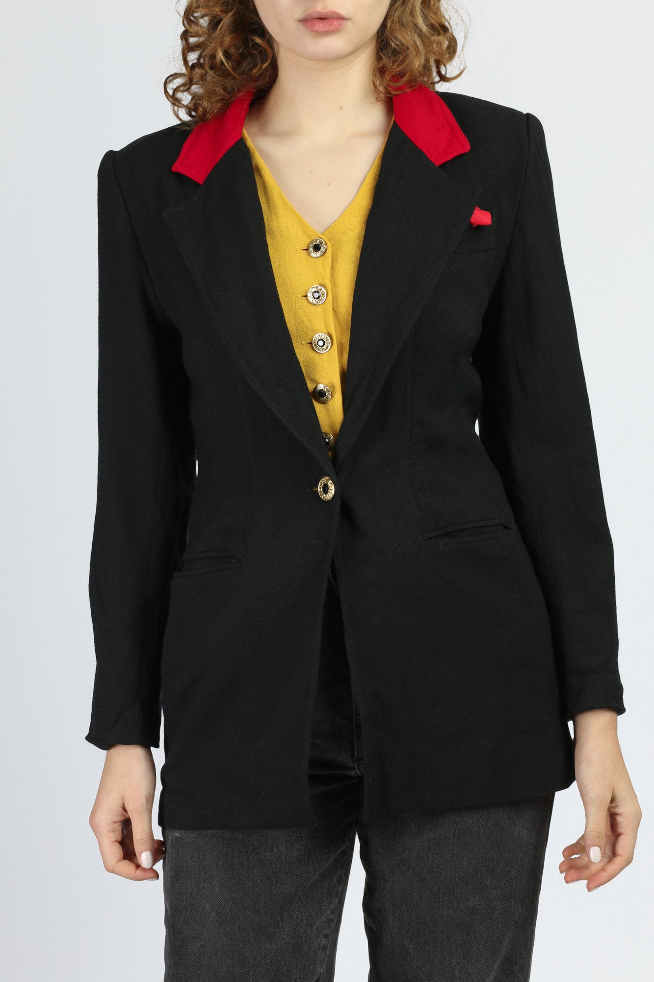 80s Criscione Blazer Jacket & Vest Combo Top - Small
