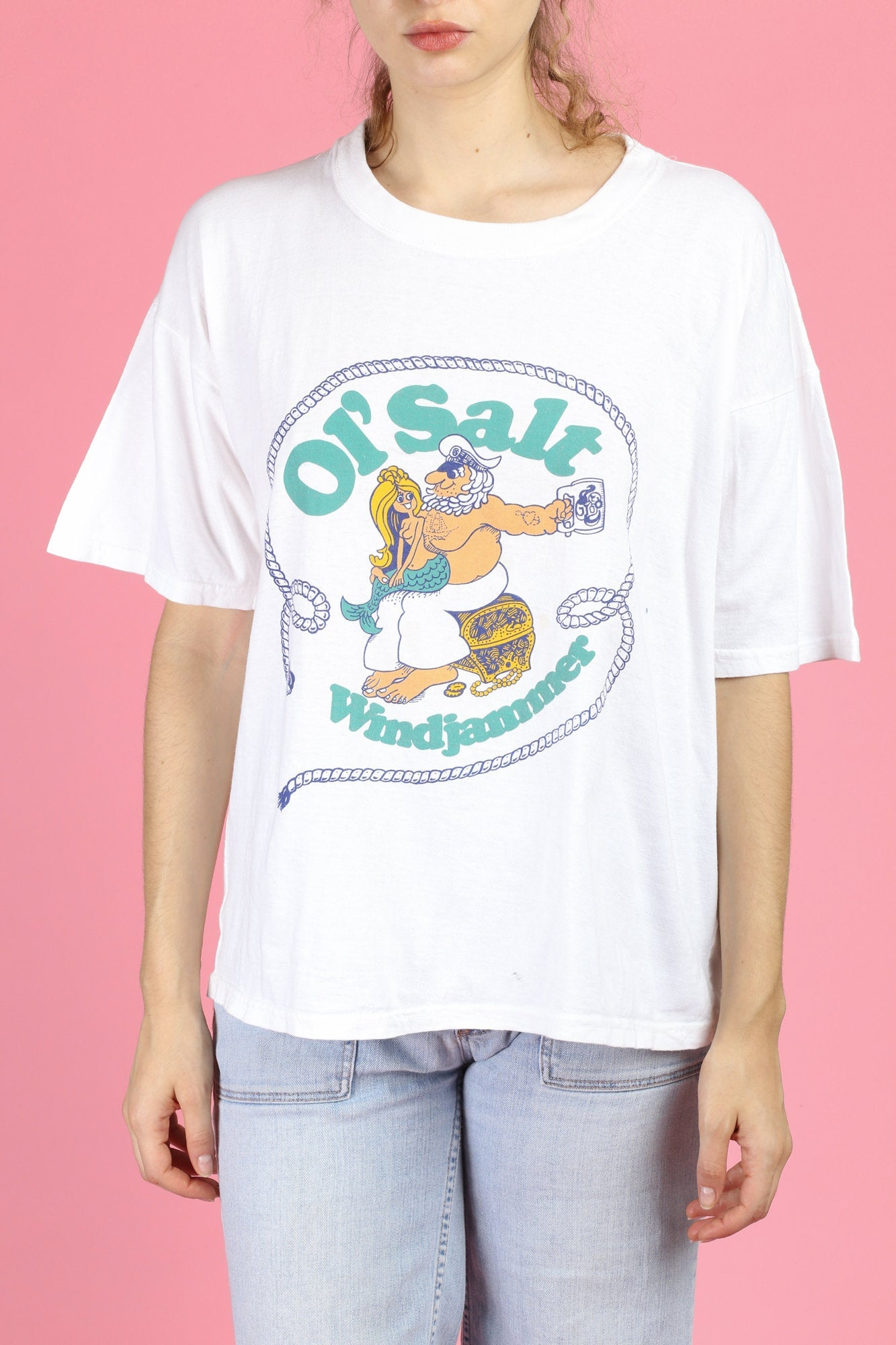 80s Mermaid & Sailor T Shirt - Extra Large