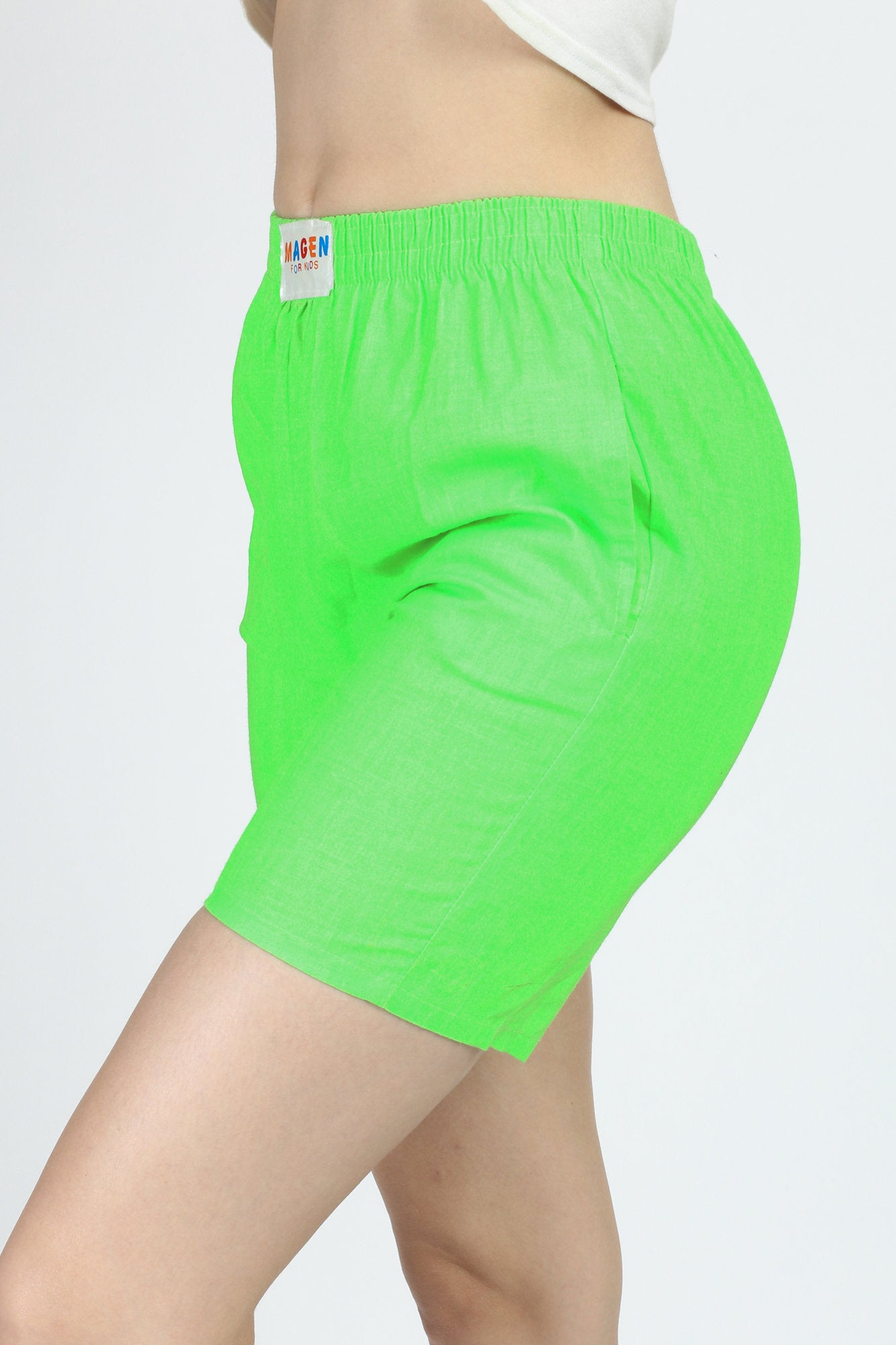 80s Neon Green High Rise Shorts - Extra Small