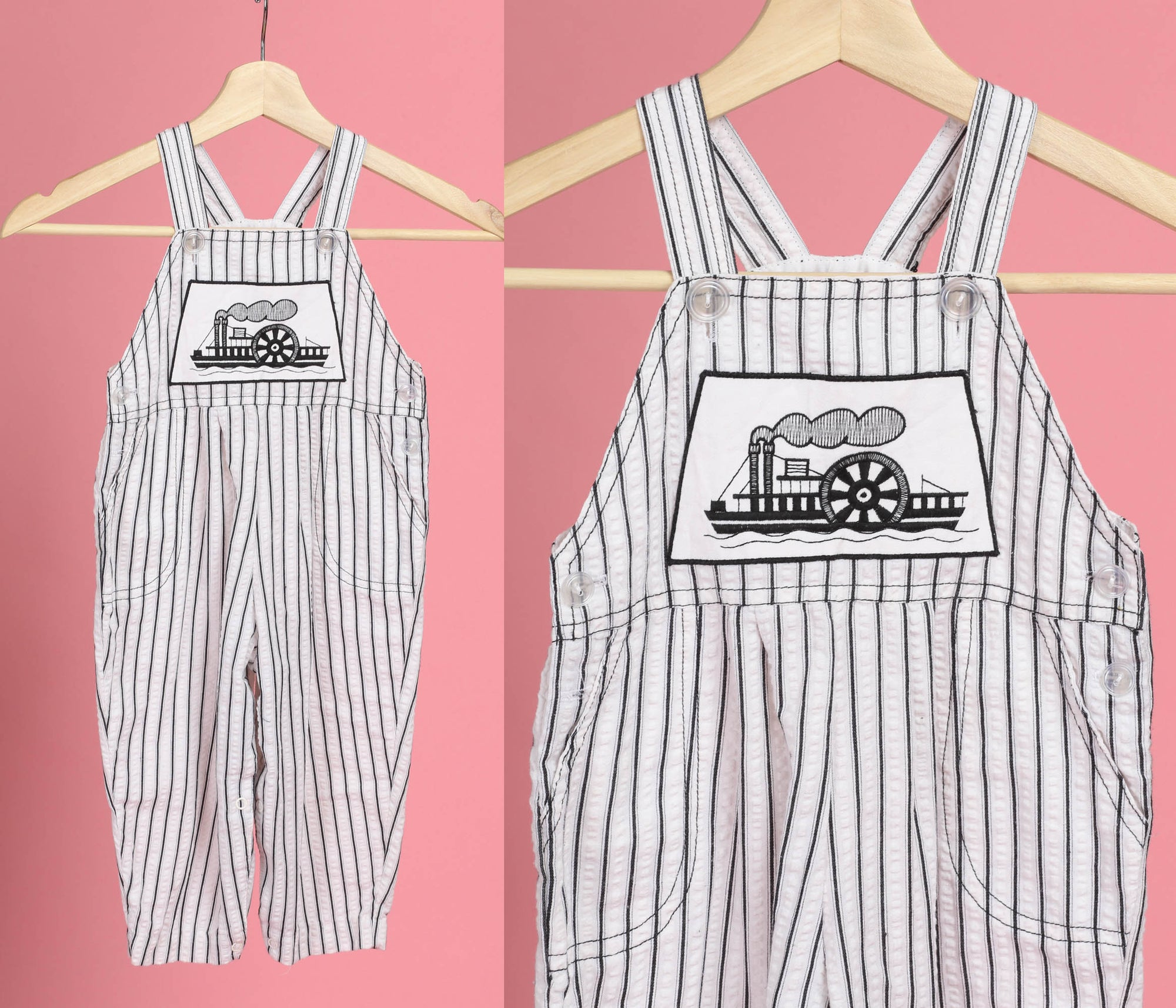 90s Steamboat Toddler Overalls - 2T