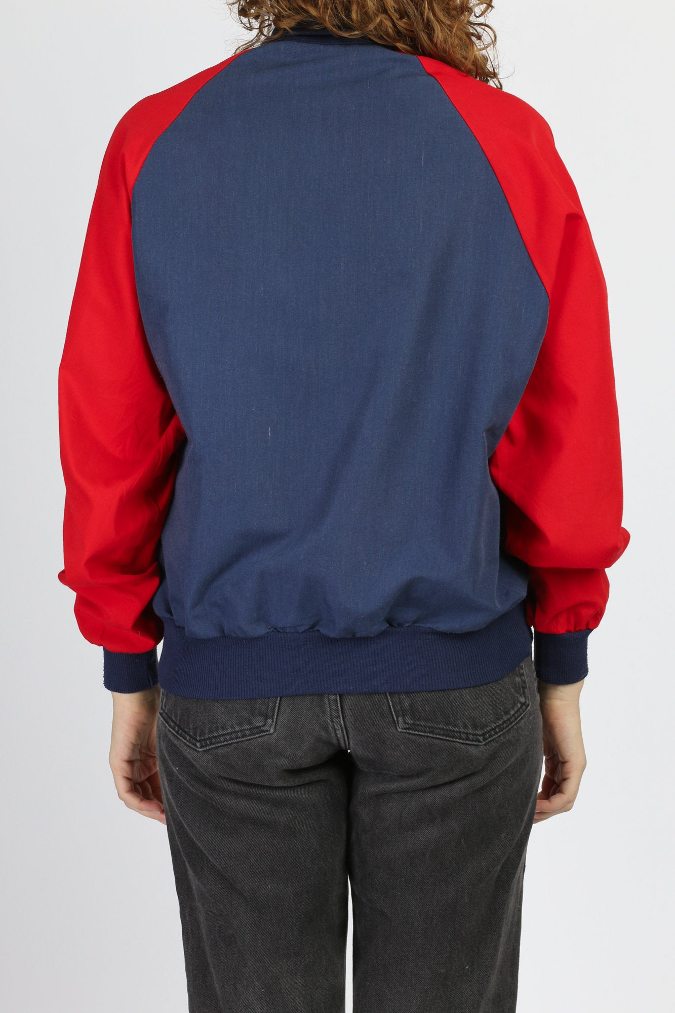 80s Color Block Pullover Track Jacket - Men's Medium
