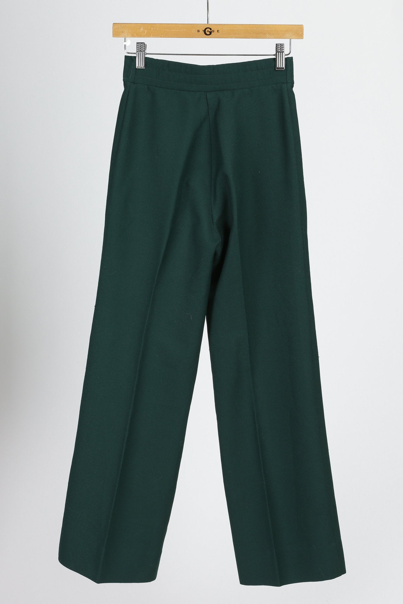 70s Forest Green High Waist Pants - Extra Small